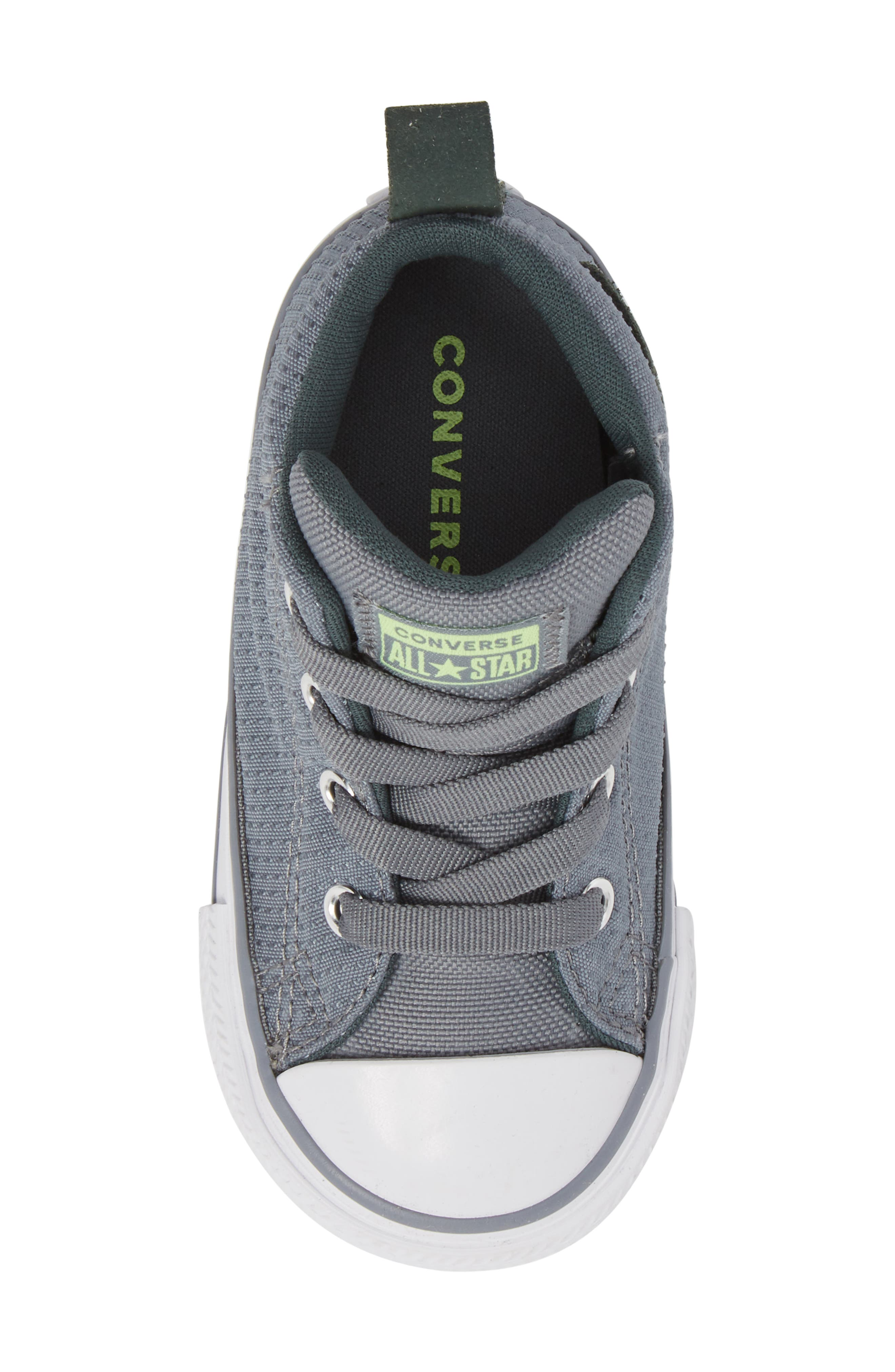 Chuck Taylor<sup>®</sup> All Star<sup>®</sup> Street Mid Top Sneaker,                             Alternate thumbnail 5, color,                             PALE GREY