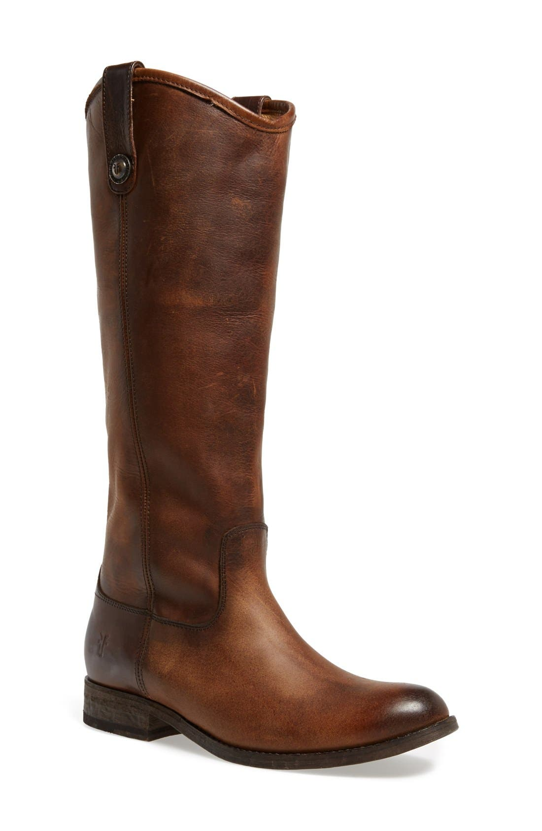 'Melissa Button' Leather Riding Boot,                             Main thumbnail 4, color,