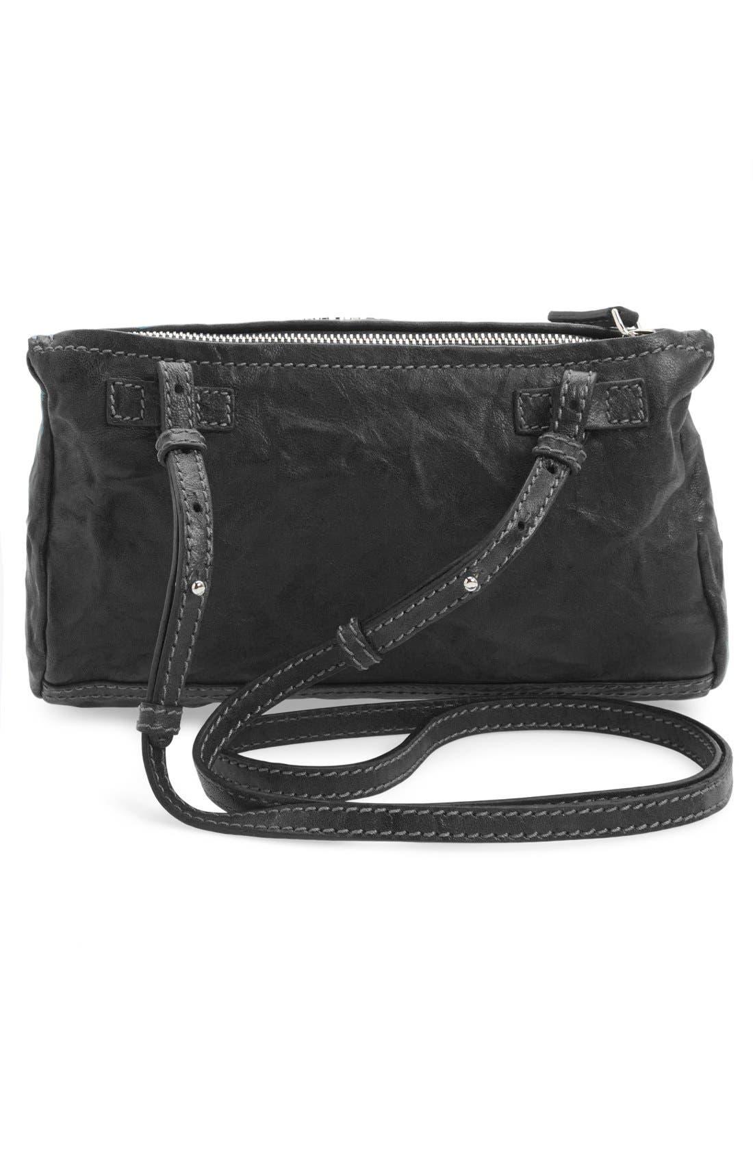 'Mini Pepe Pandora' Leather Shoulder Bag,                             Alternate thumbnail 6, color,                             BLACK