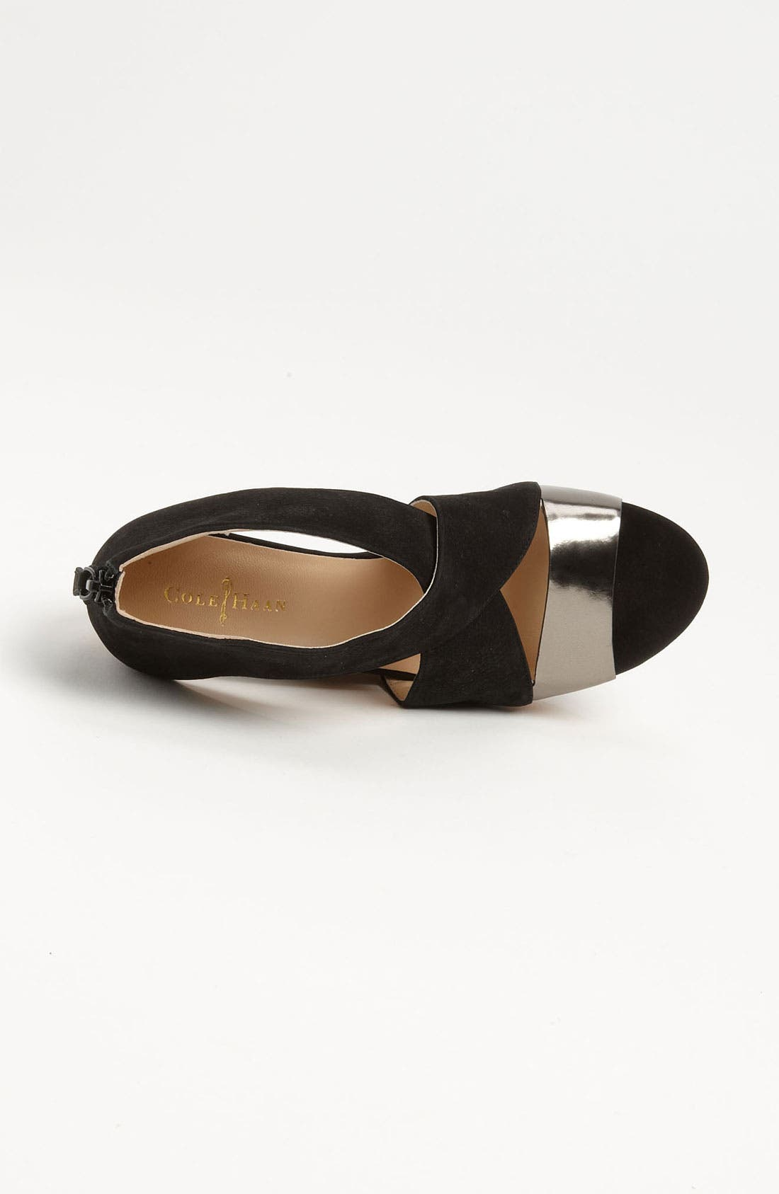 COLE HAAN,                             'Air Irving' Wedge Sandal,                             Alternate thumbnail 3, color,                             001