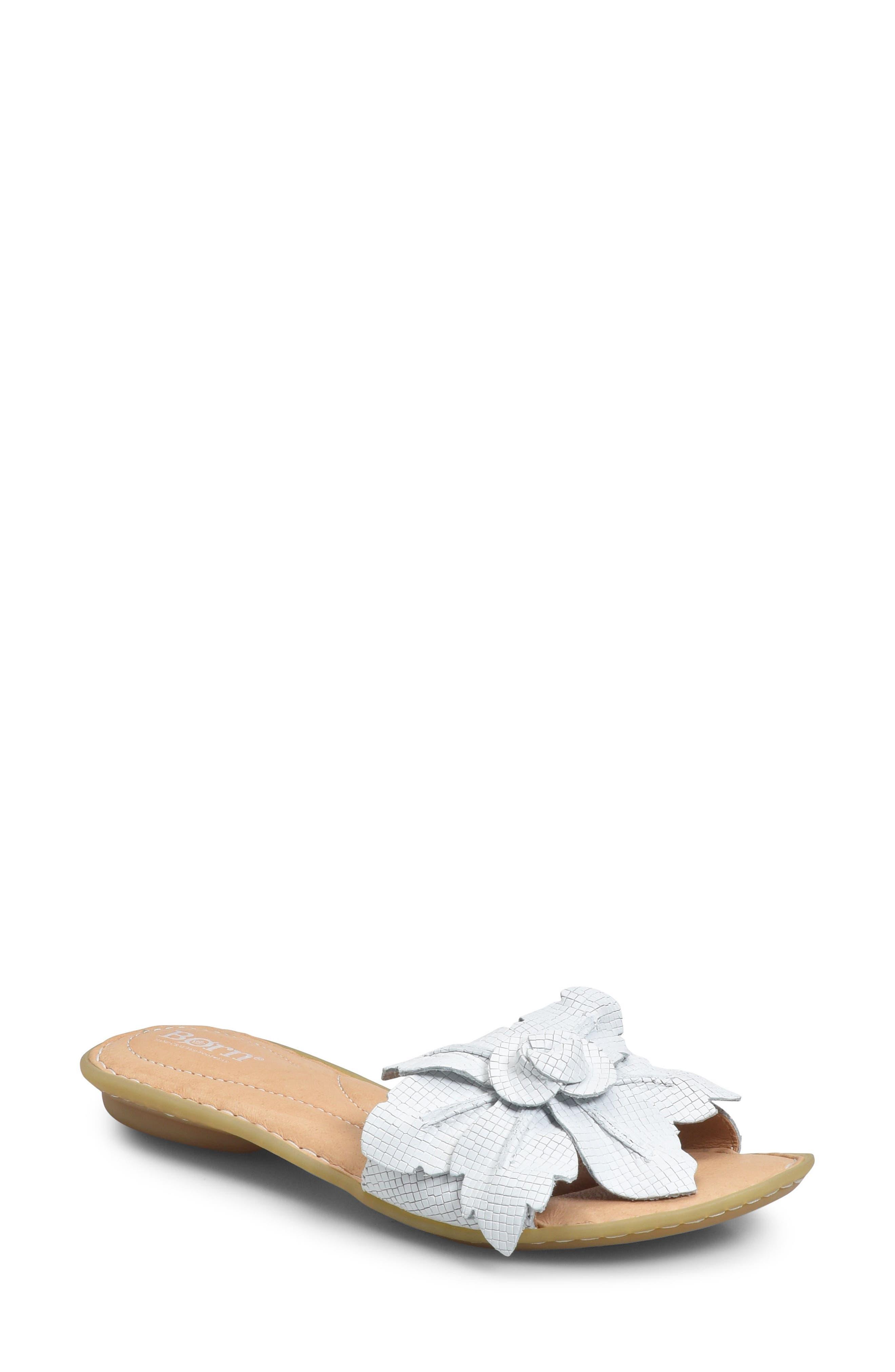 B?rn Mai Floral Sandal, White