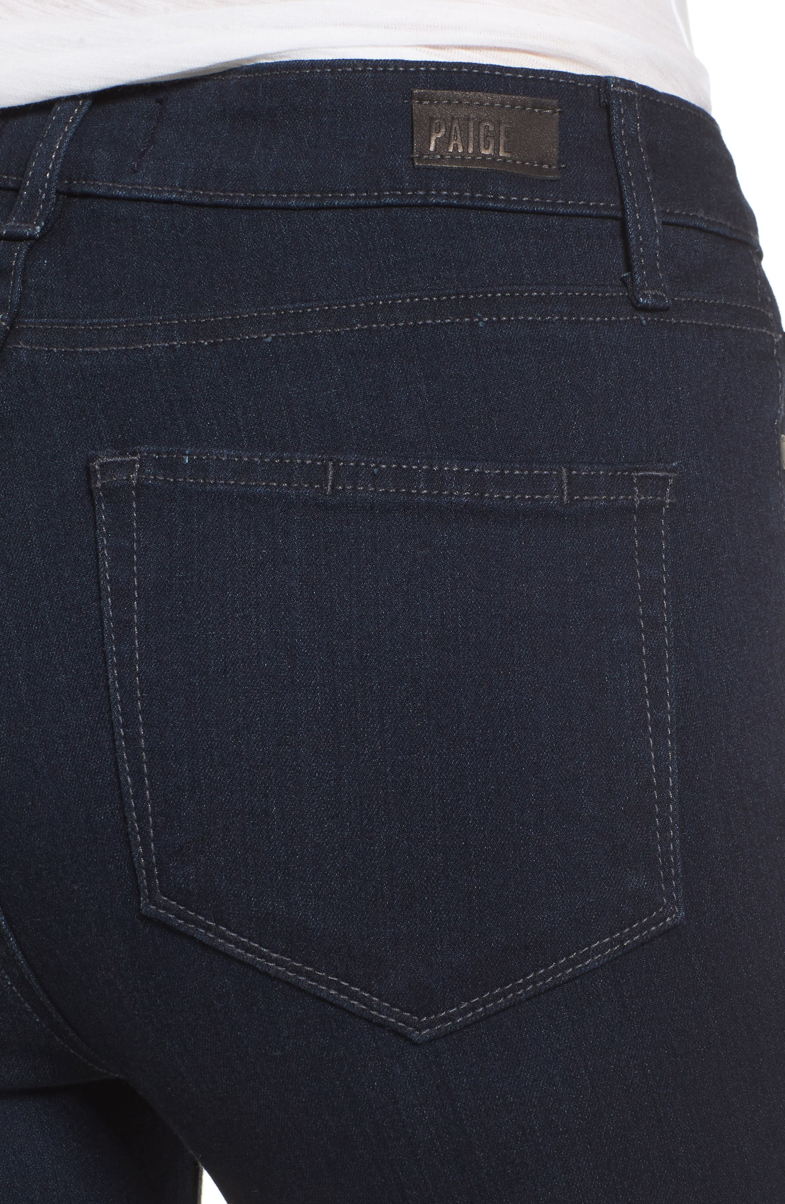Transcend - Manhattan High Rise Bootcut Jeans,                             Alternate thumbnail 4, color,                             400