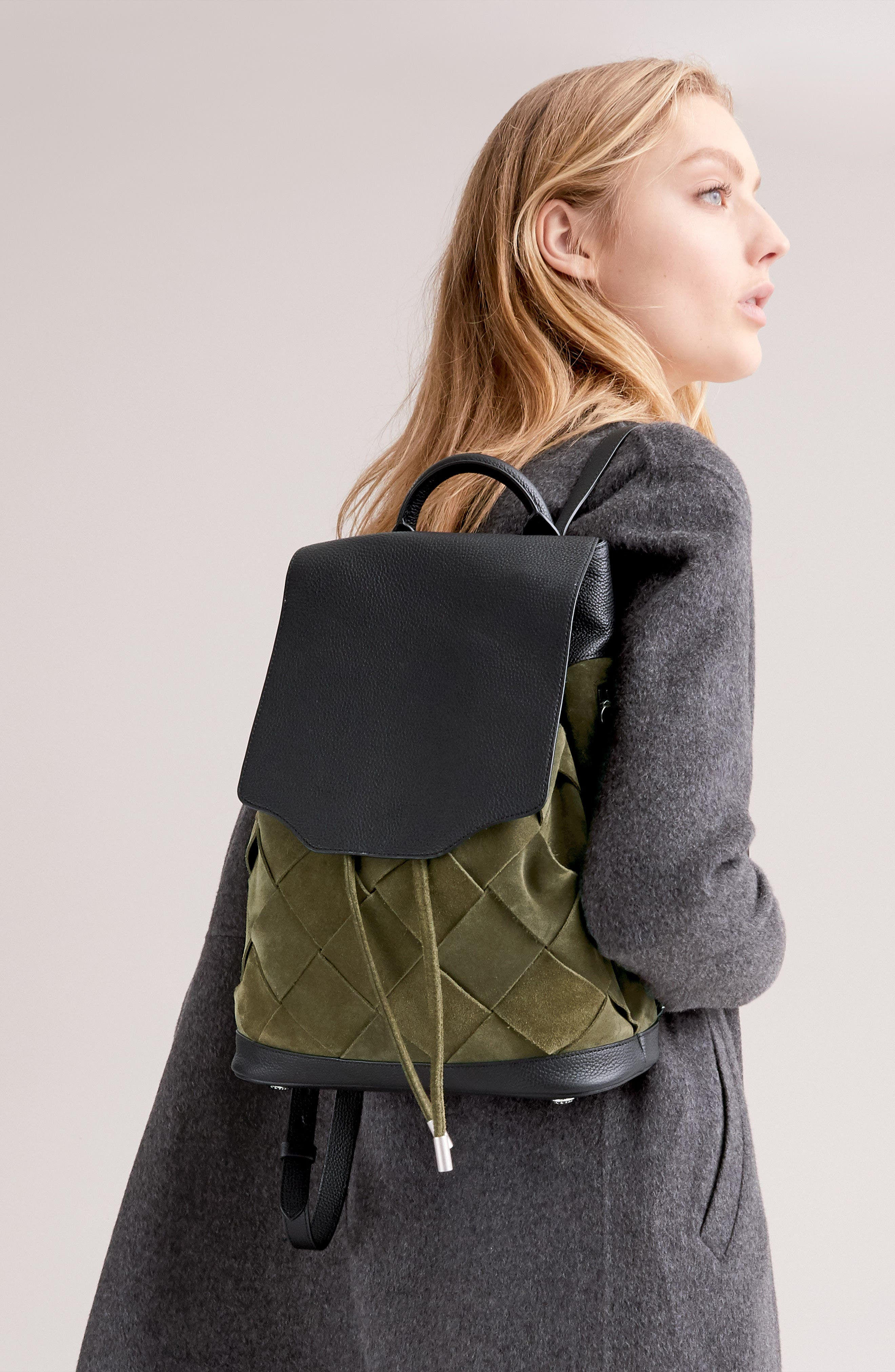 Pilot Suede & Leather Backpack,                             Alternate thumbnail 7, color,                             300