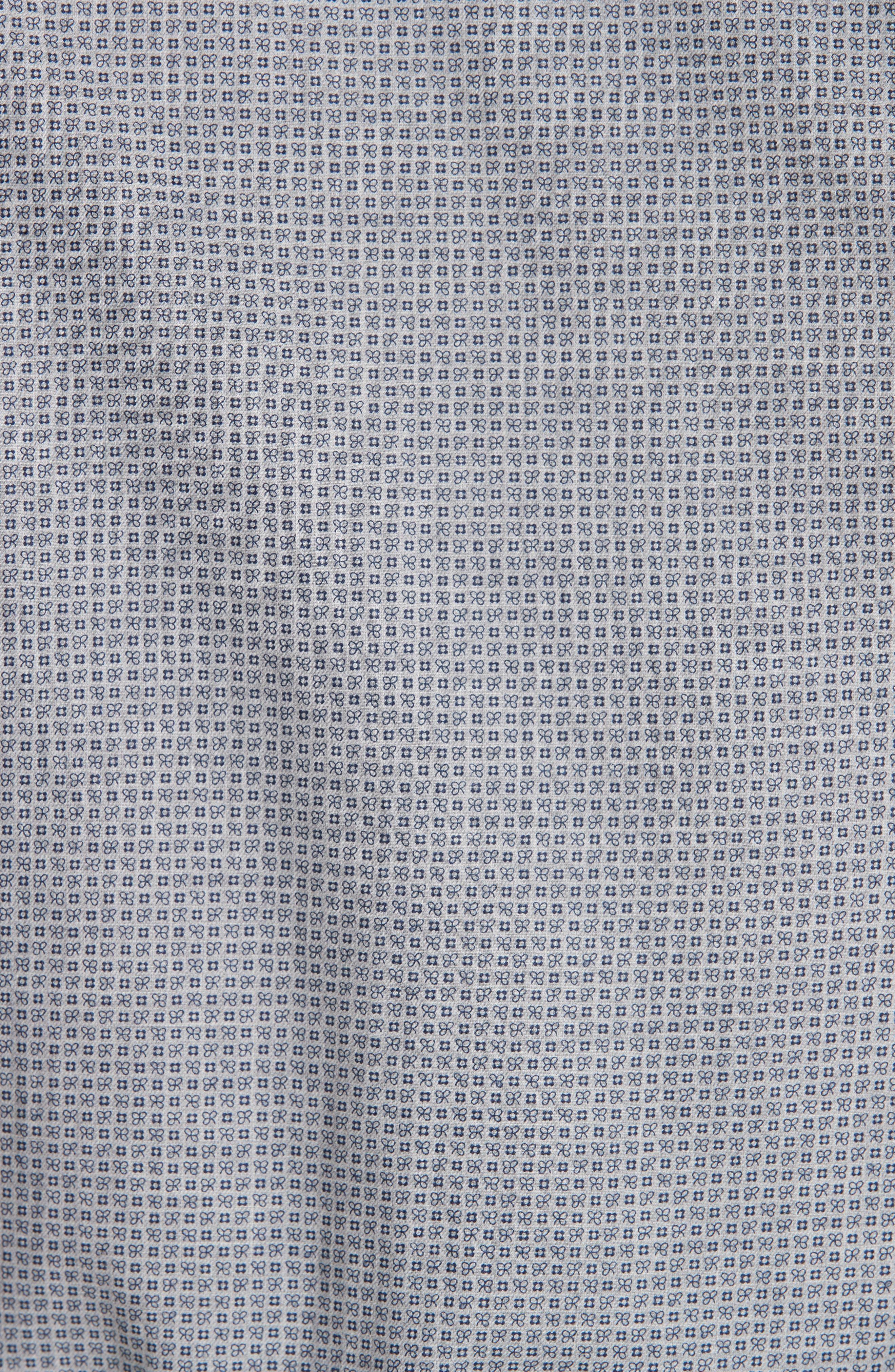Classic Fit Geometric Dress Shirt,                             Alternate thumbnail 5, color,                             020