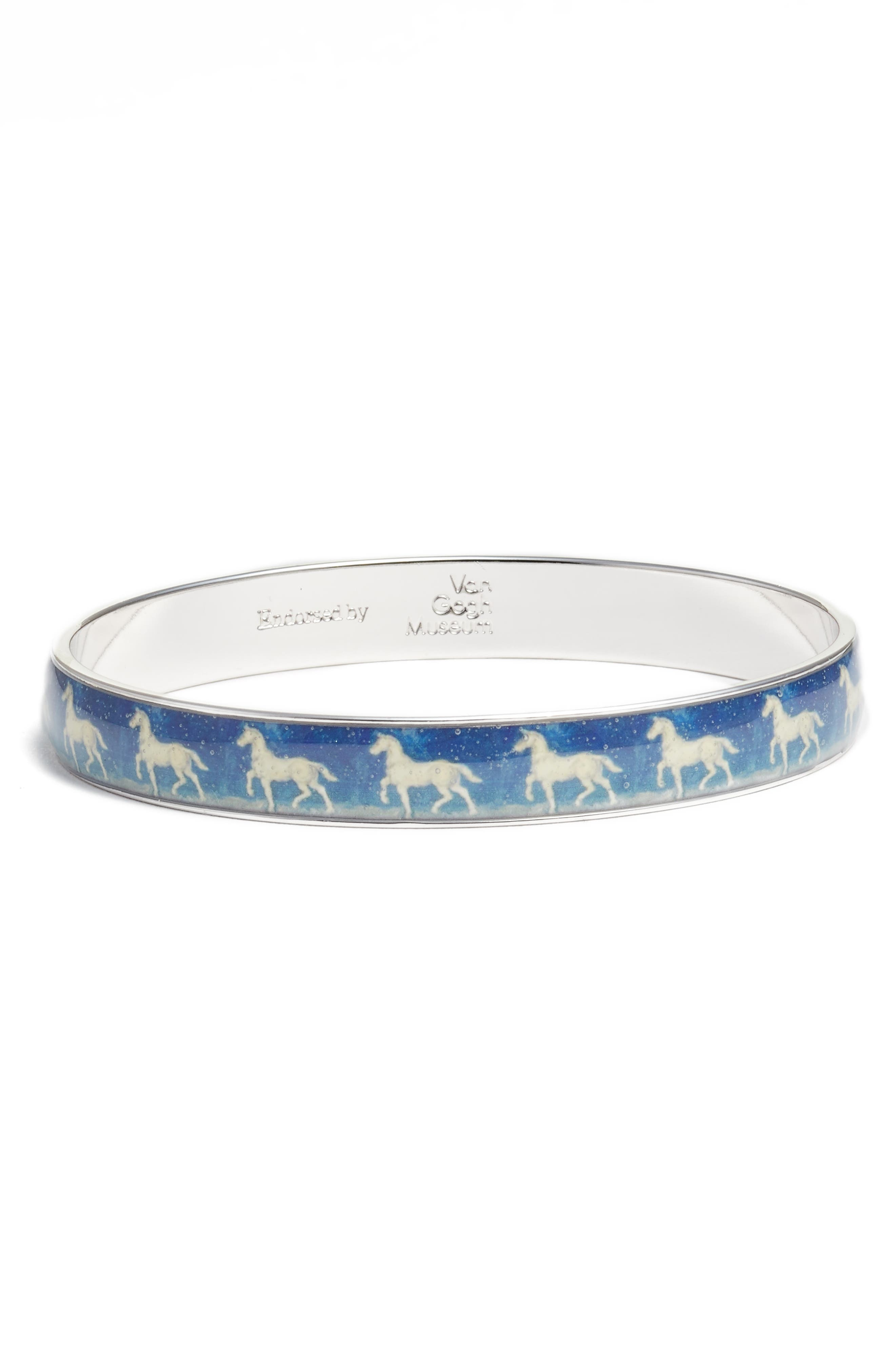 Blue Horse Medium Bracelet,                             Main thumbnail 1, color,                             BLUE/ SILVER