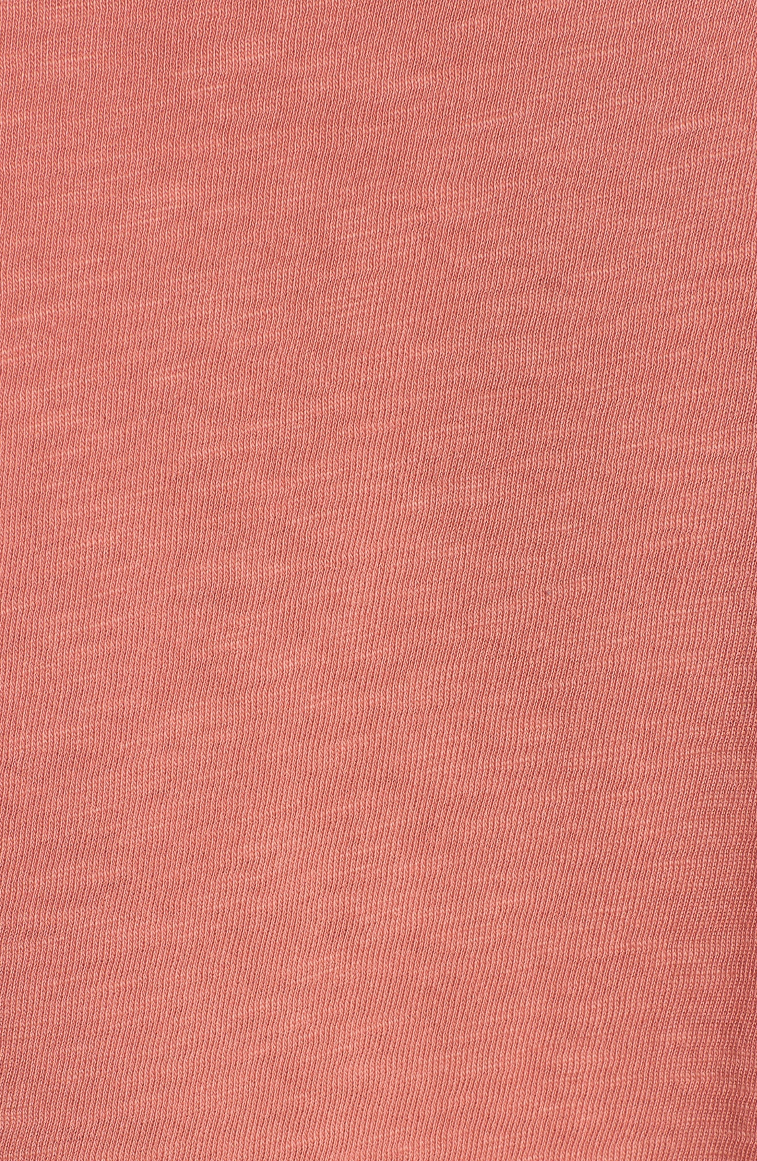 Tie Sleeve Slub Cotton Tee,                             Alternate thumbnail 5, color,                             659