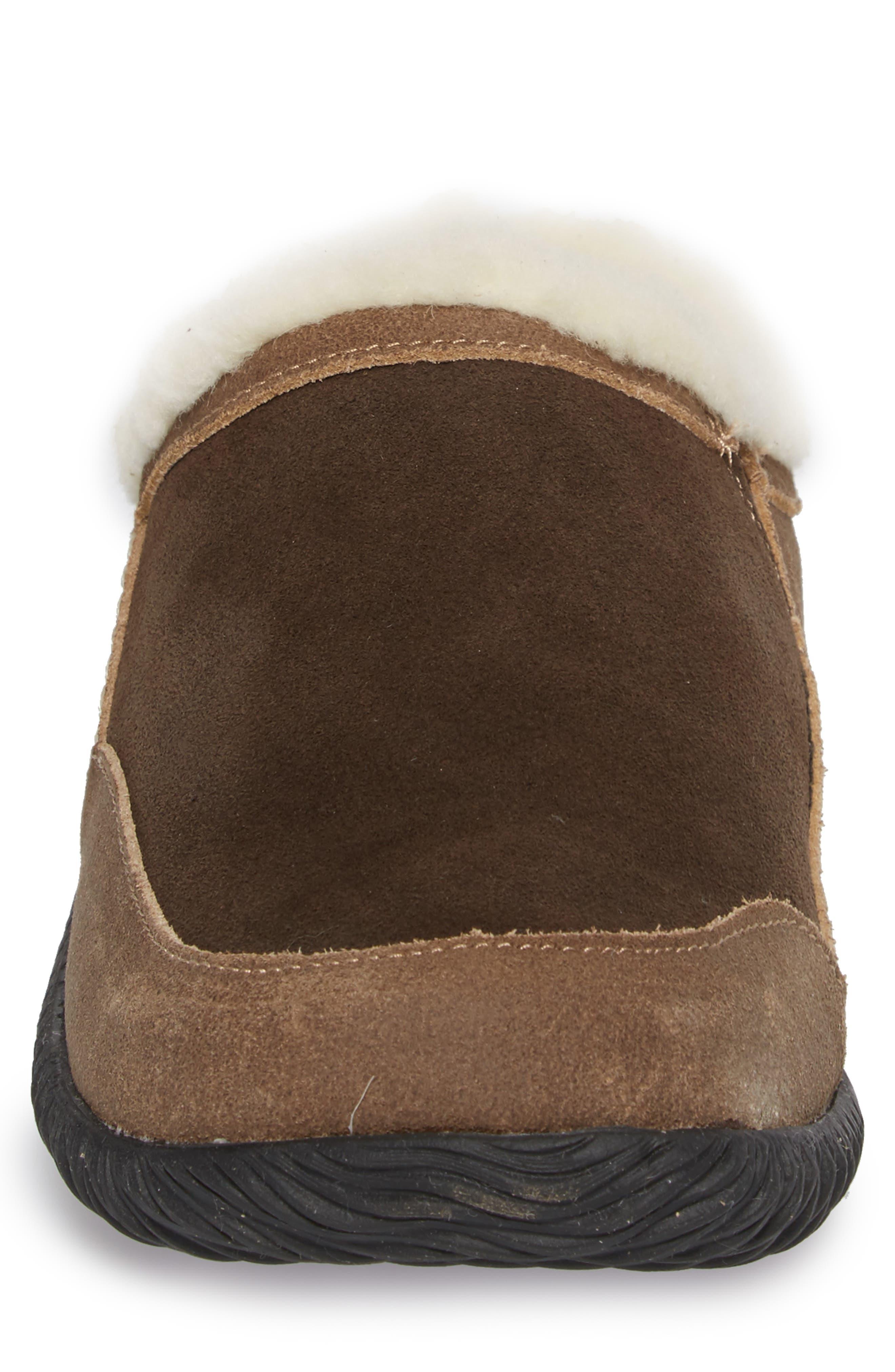 'Rambler' Mule Slipper,                             Alternate thumbnail 4, color,                             CHOCOLATE/ BROWN