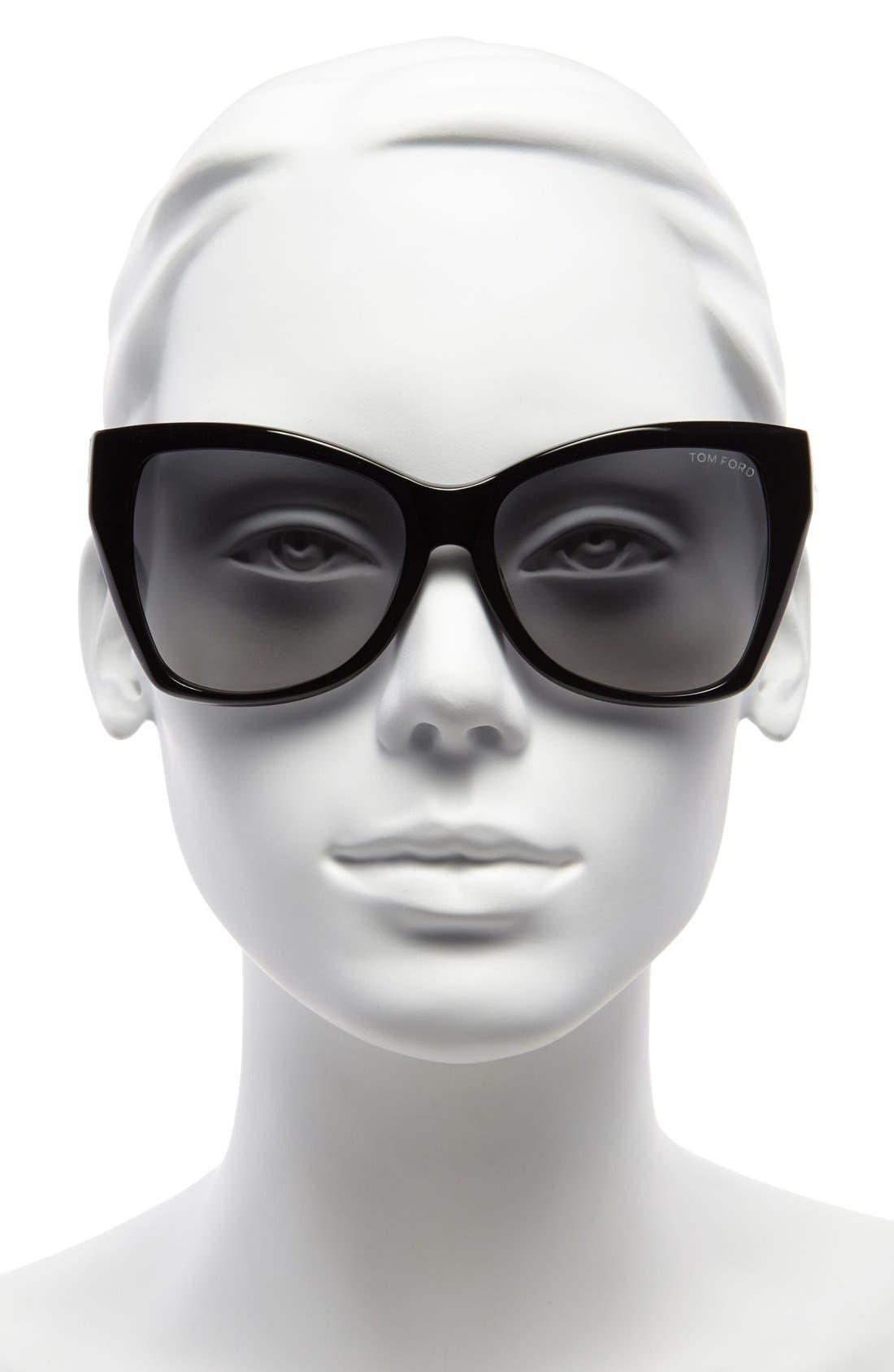 'Carli' 57mm Sunglasses,                             Alternate thumbnail 2, color,                             001