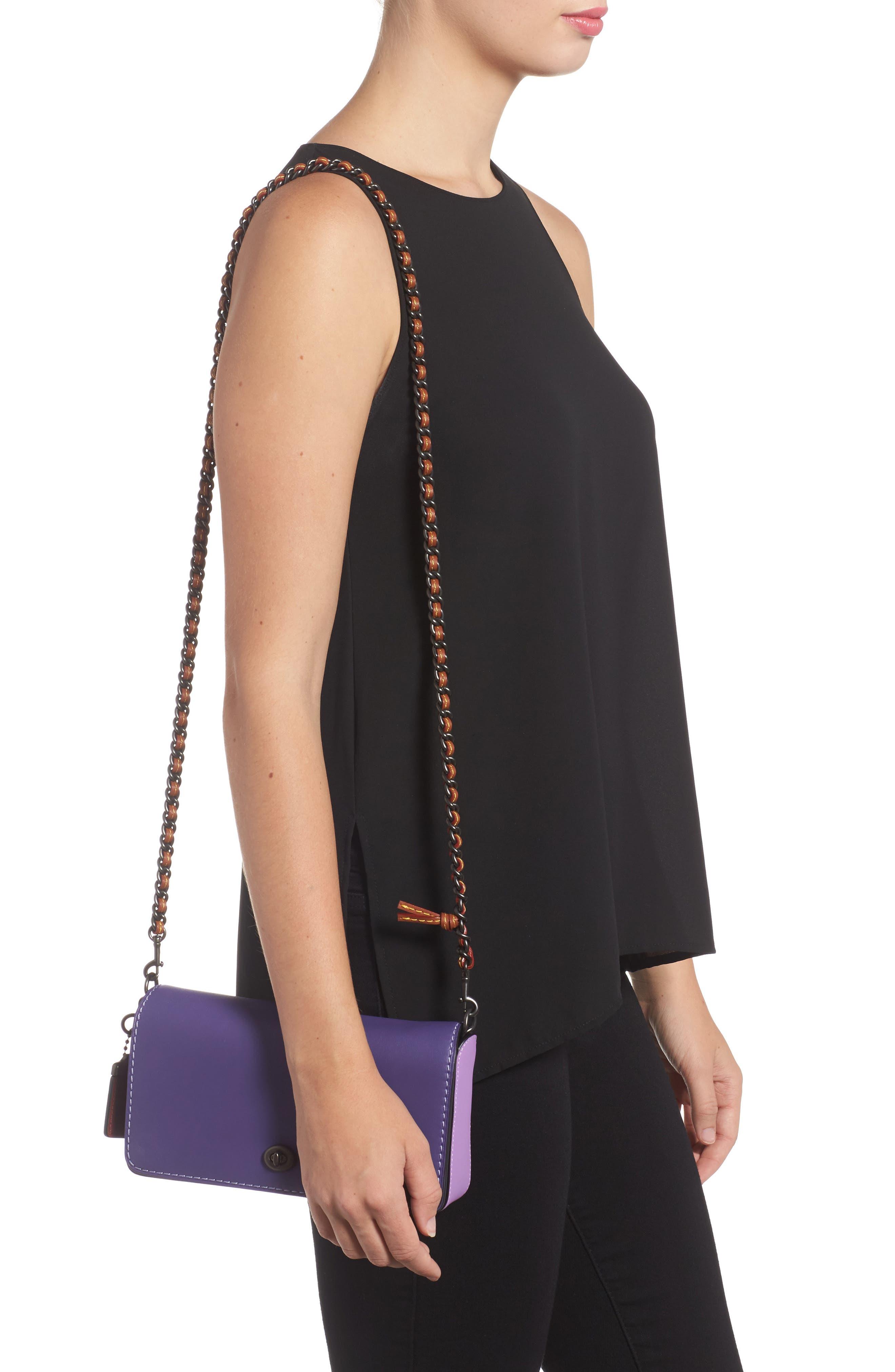 Dinky Leather Crossbody Bag,                             Alternate thumbnail 3, color,