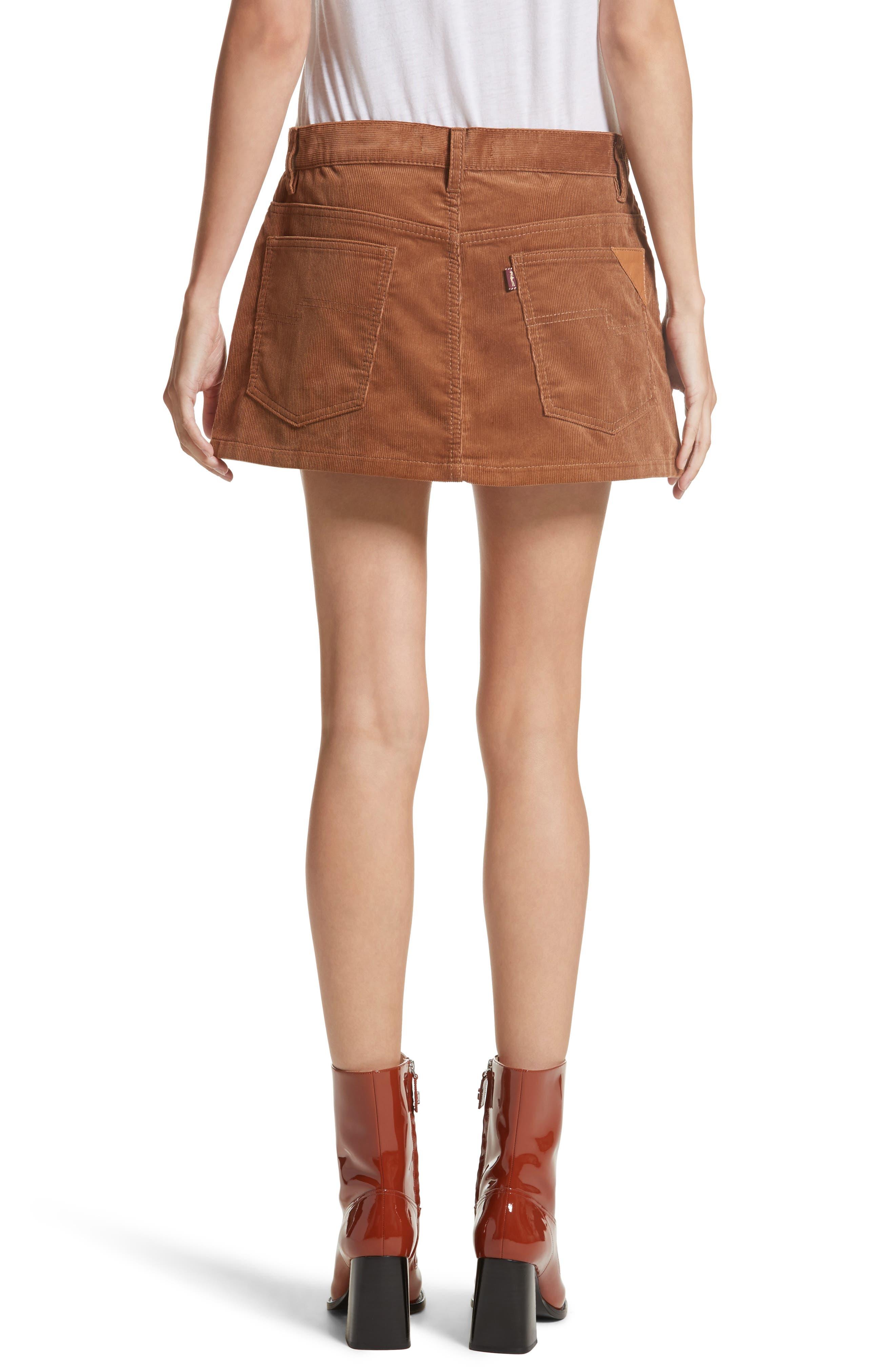 Corduroy Miniskirt,                             Alternate thumbnail 2, color,                             200