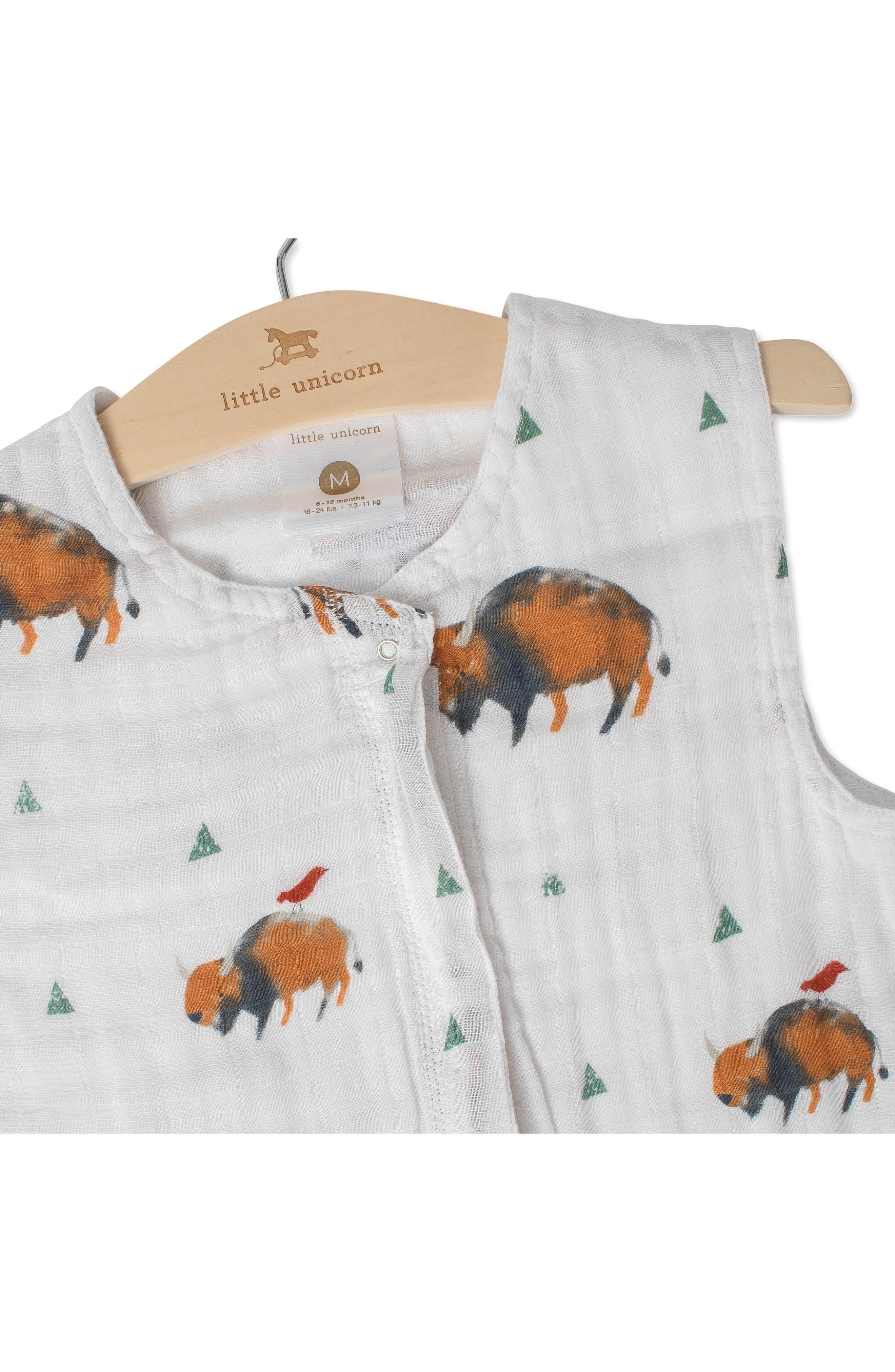 Little Unicorn Cotton Muslin Wearable Blanket Size S (06m)  Brown