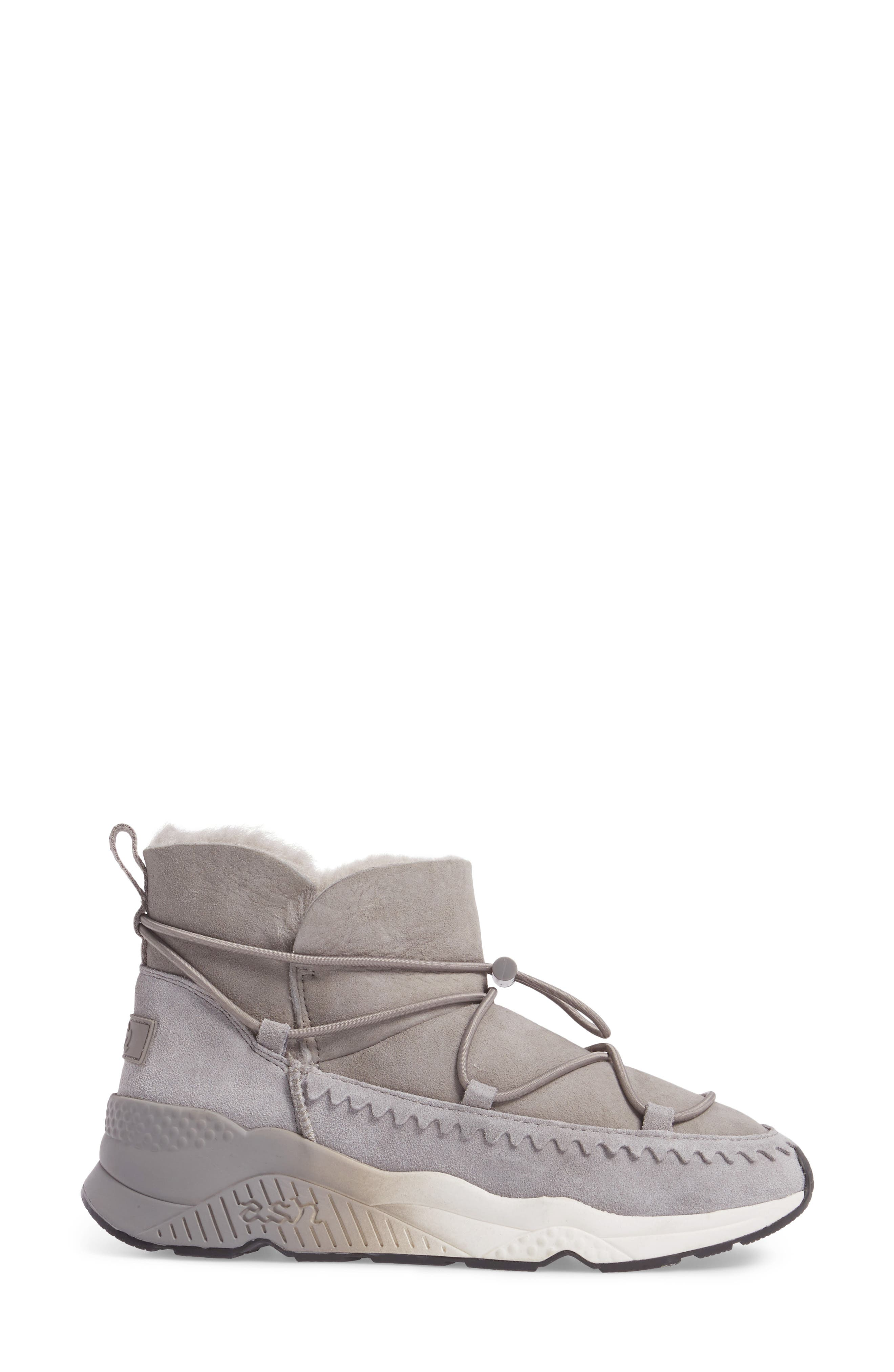 Mitsouko Genuine Shearling Sneaker,                             Alternate thumbnail 3, color,