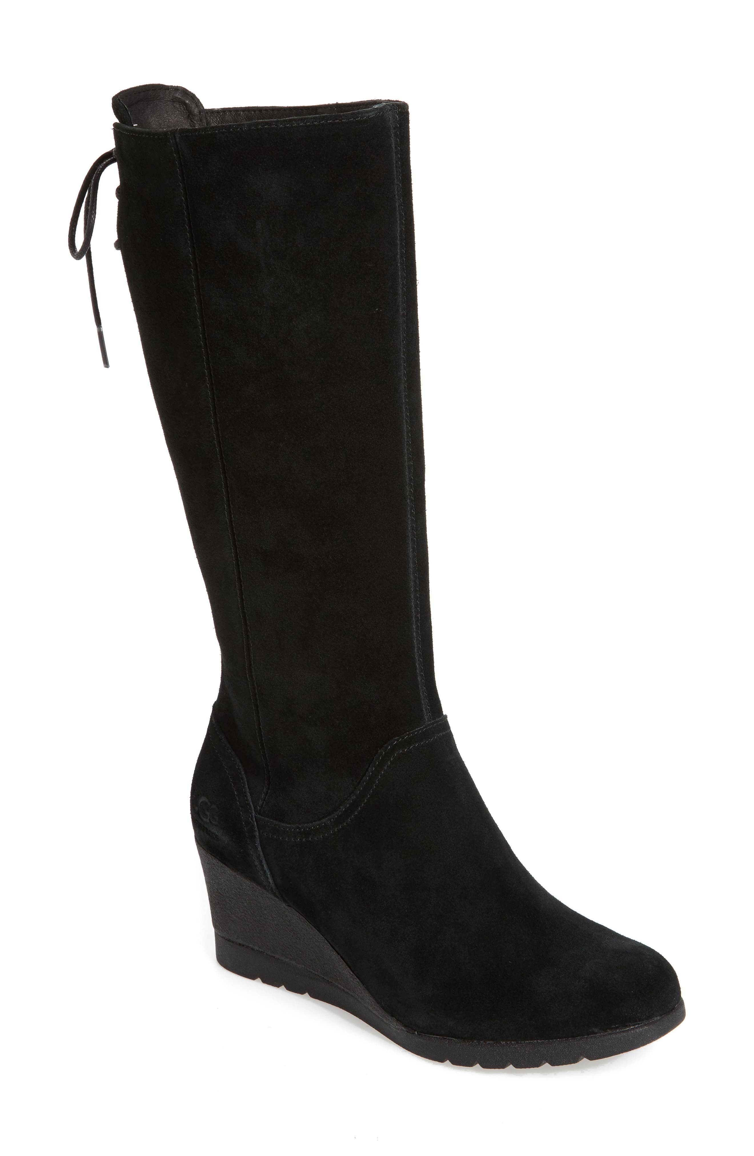 Ugg Dawna Waterproof Wedge Boot, Black