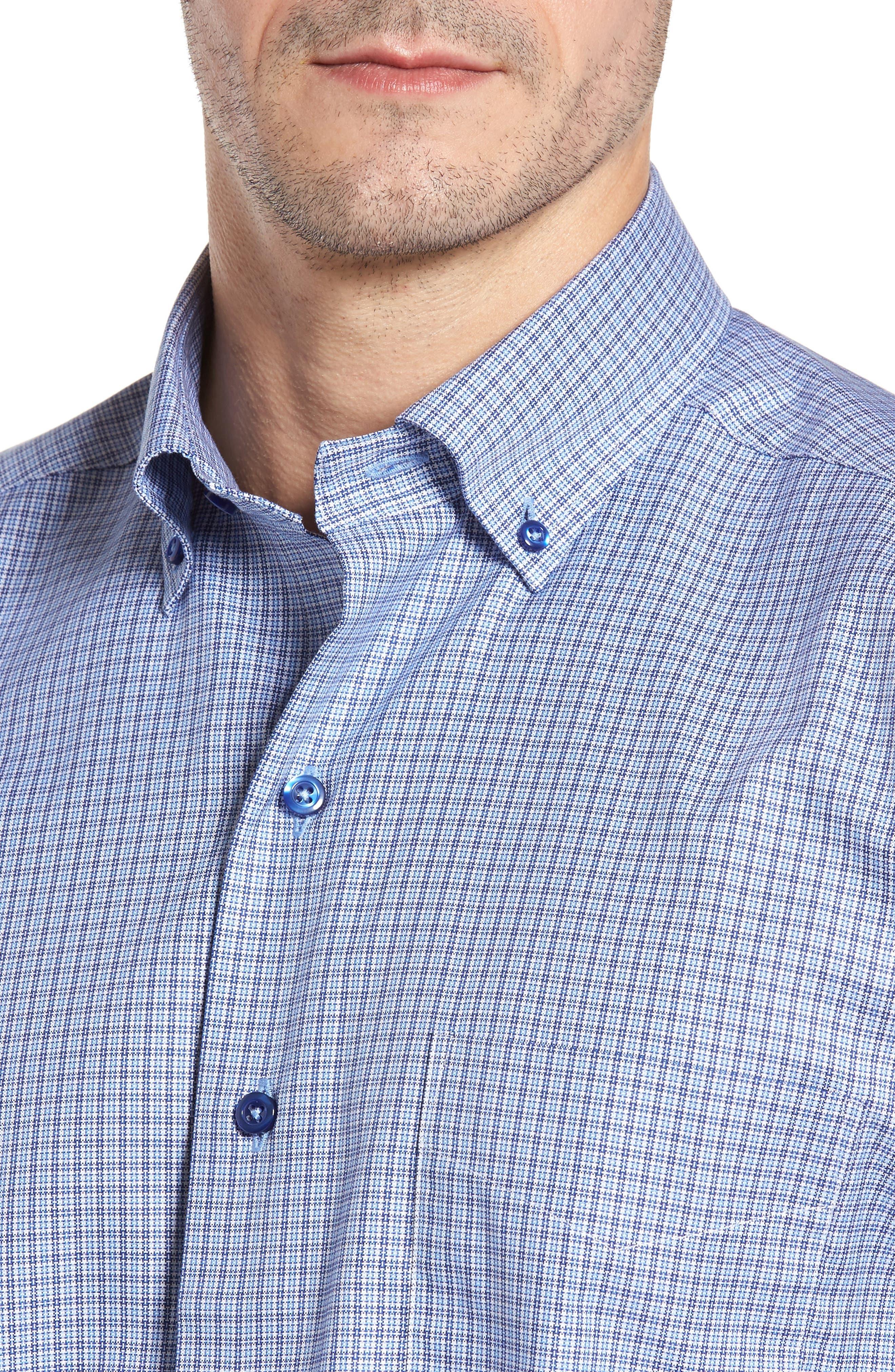 Regular Fit Plaid Sport Shirt,                             Alternate thumbnail 4, color,                             450