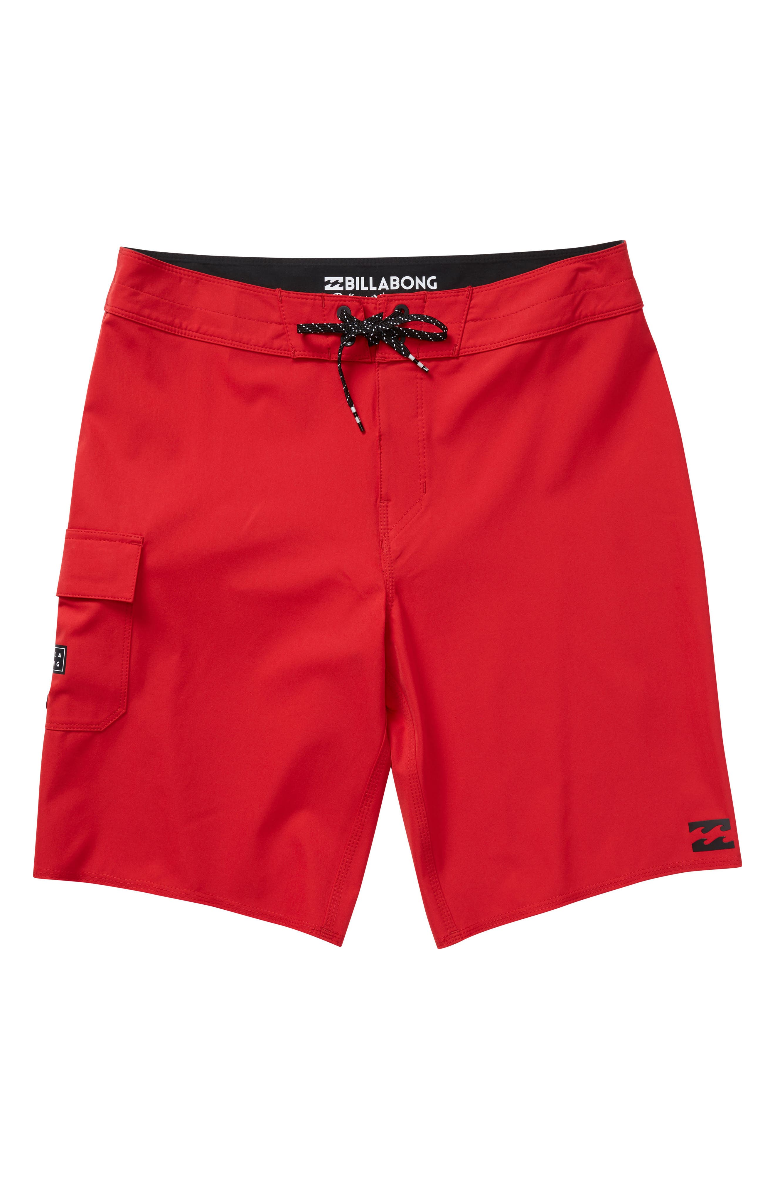 All Day X Board Shorts,                         Main,                         color, RED