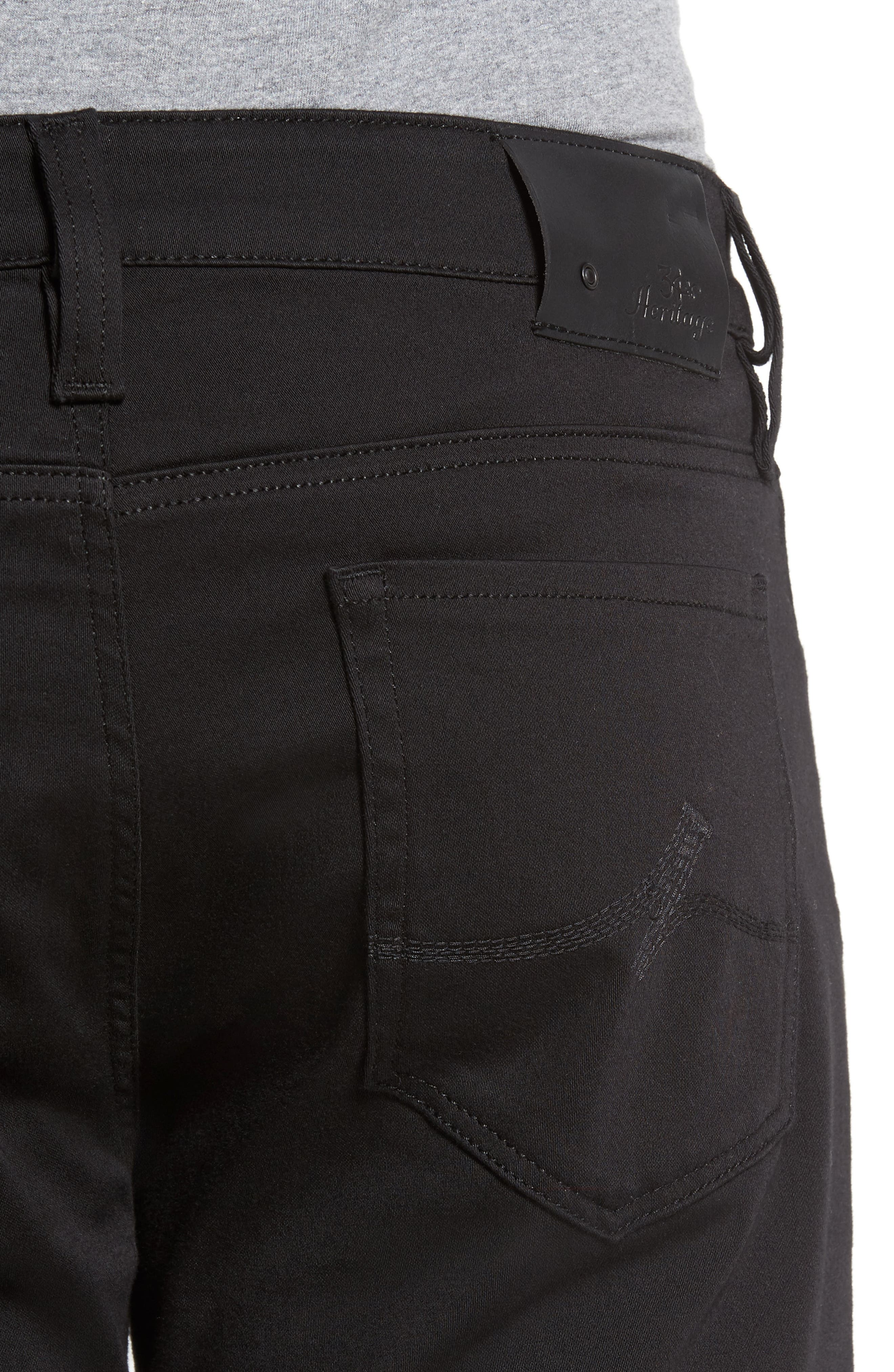 Courage Straight Leg Jeans,                             Alternate thumbnail 4, color,                             SELECT DOUBLE BLACK