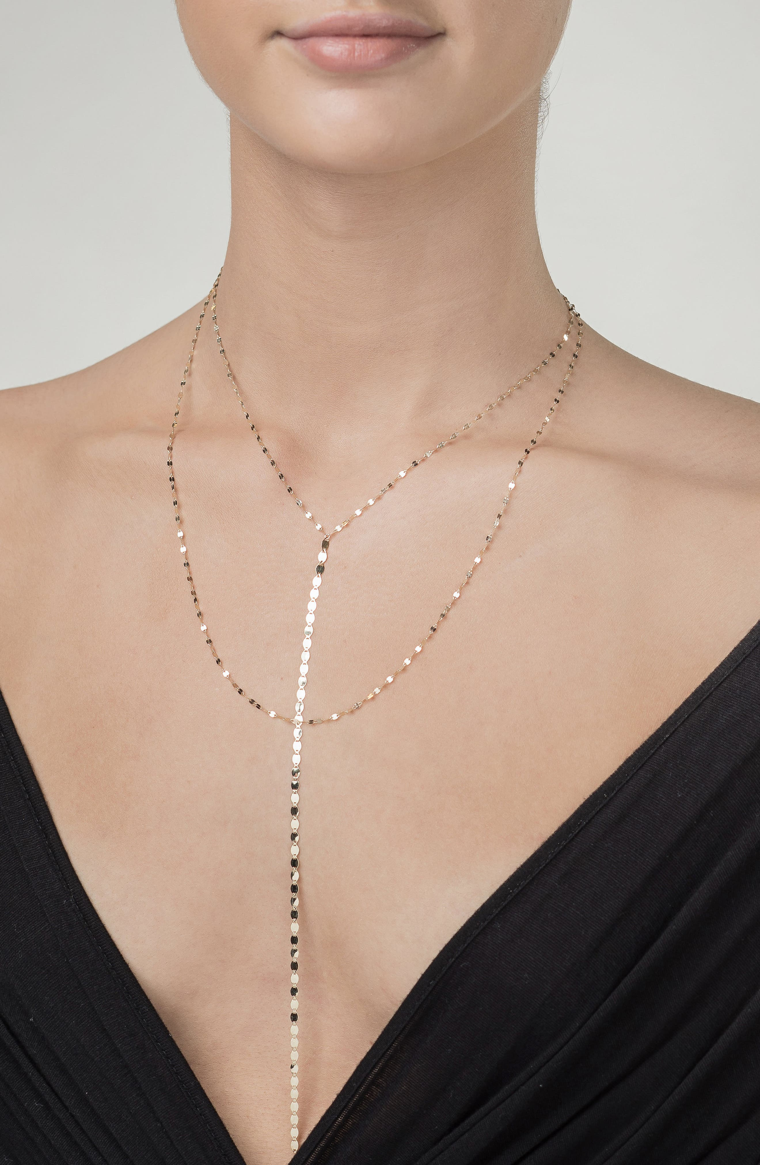 'Nude Blake' Multistrand Drop Necklace,                             Alternate thumbnail 2, color,                             YELLOW GOLD