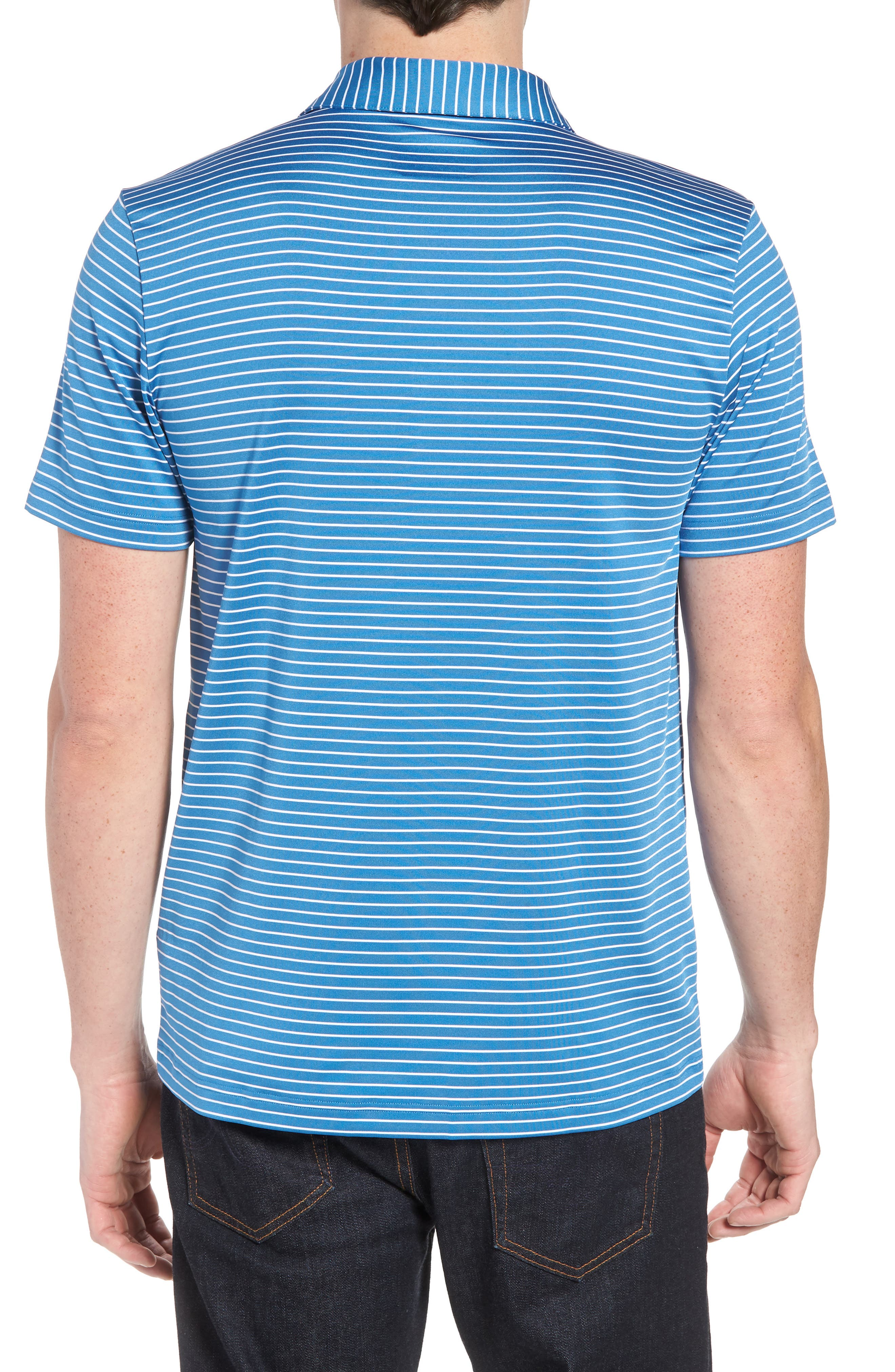 Stripe Polo,                             Alternate thumbnail 2, color,                             100