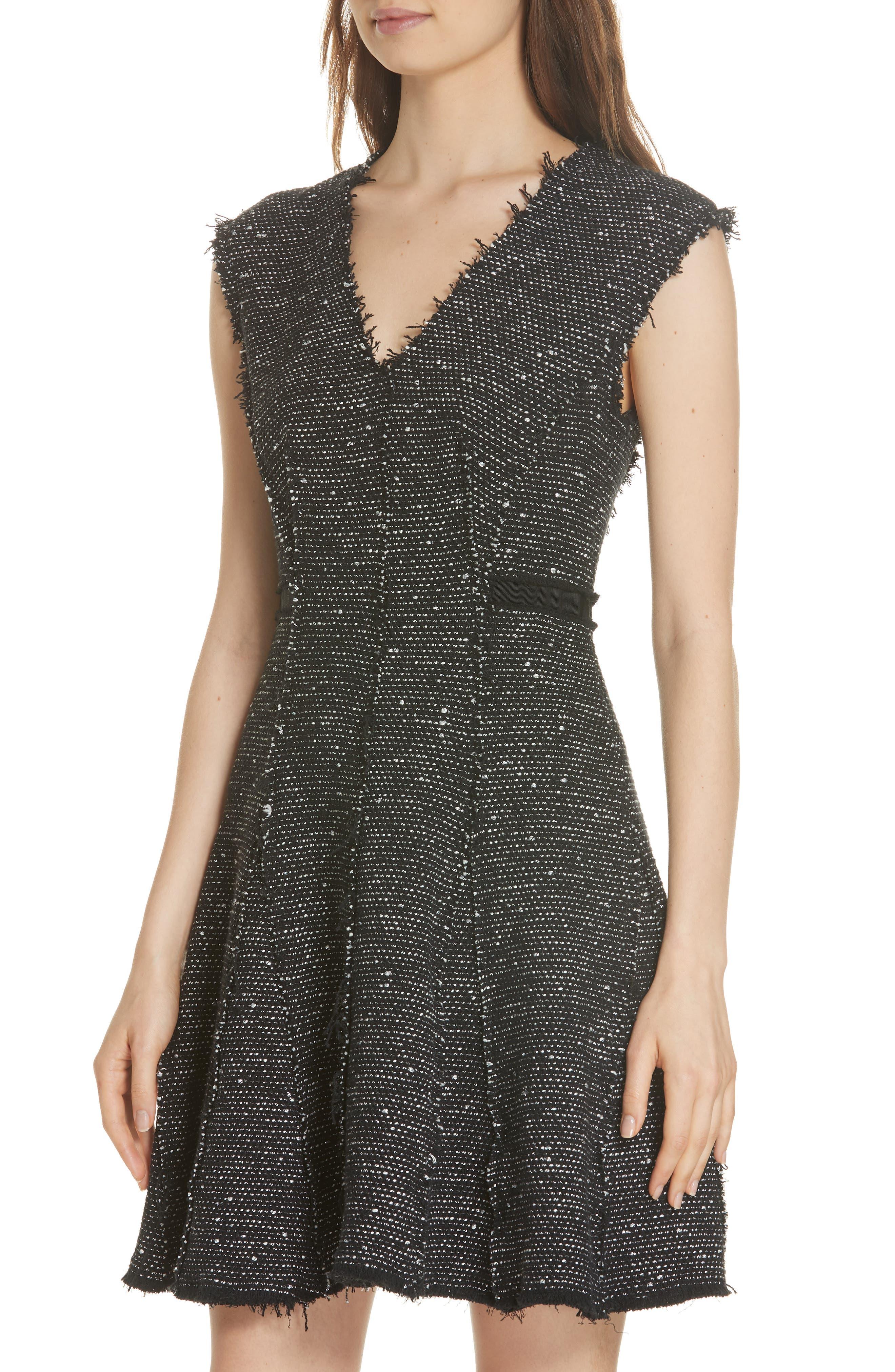 Sparkle Stretch Dress,                             Alternate thumbnail 4, color,                             BLACK