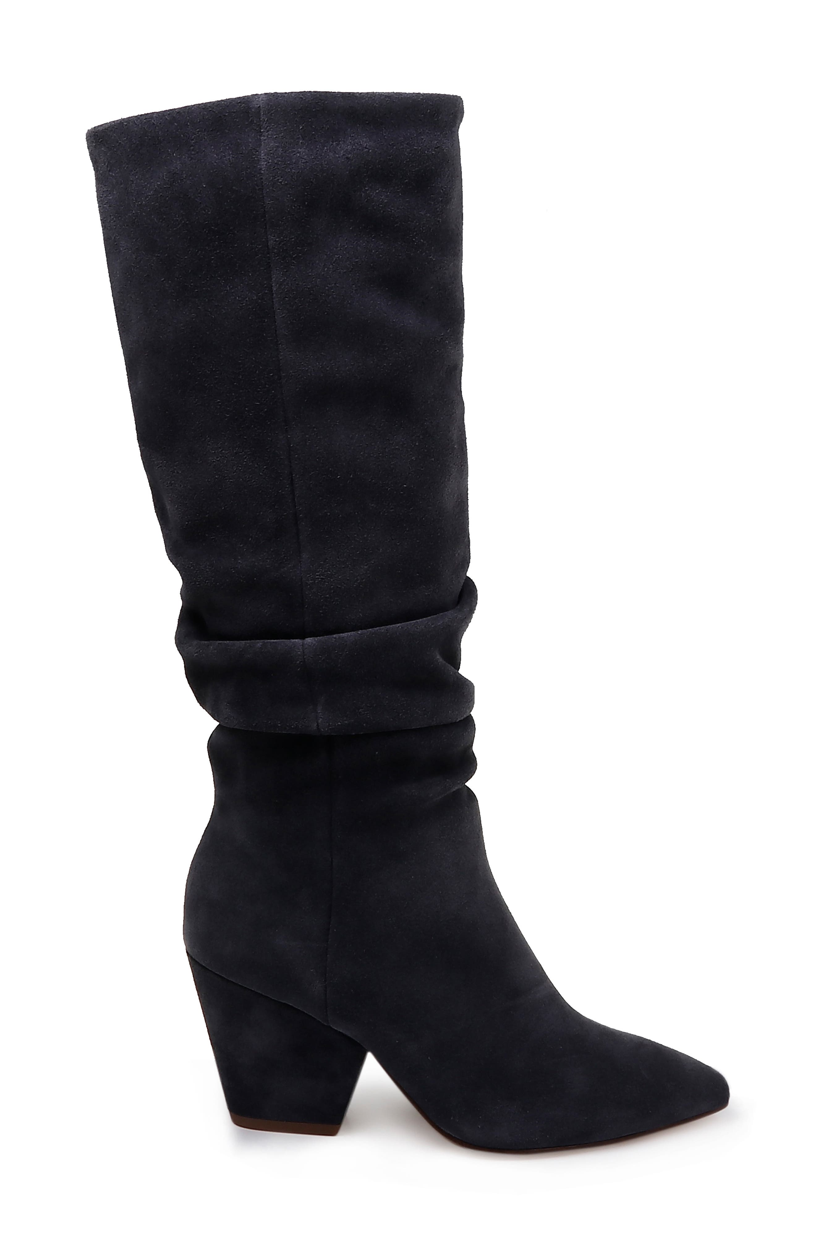 Clayton Slouchy Boot,                             Alternate thumbnail 3, color,                             GREYSTONE SUEDE