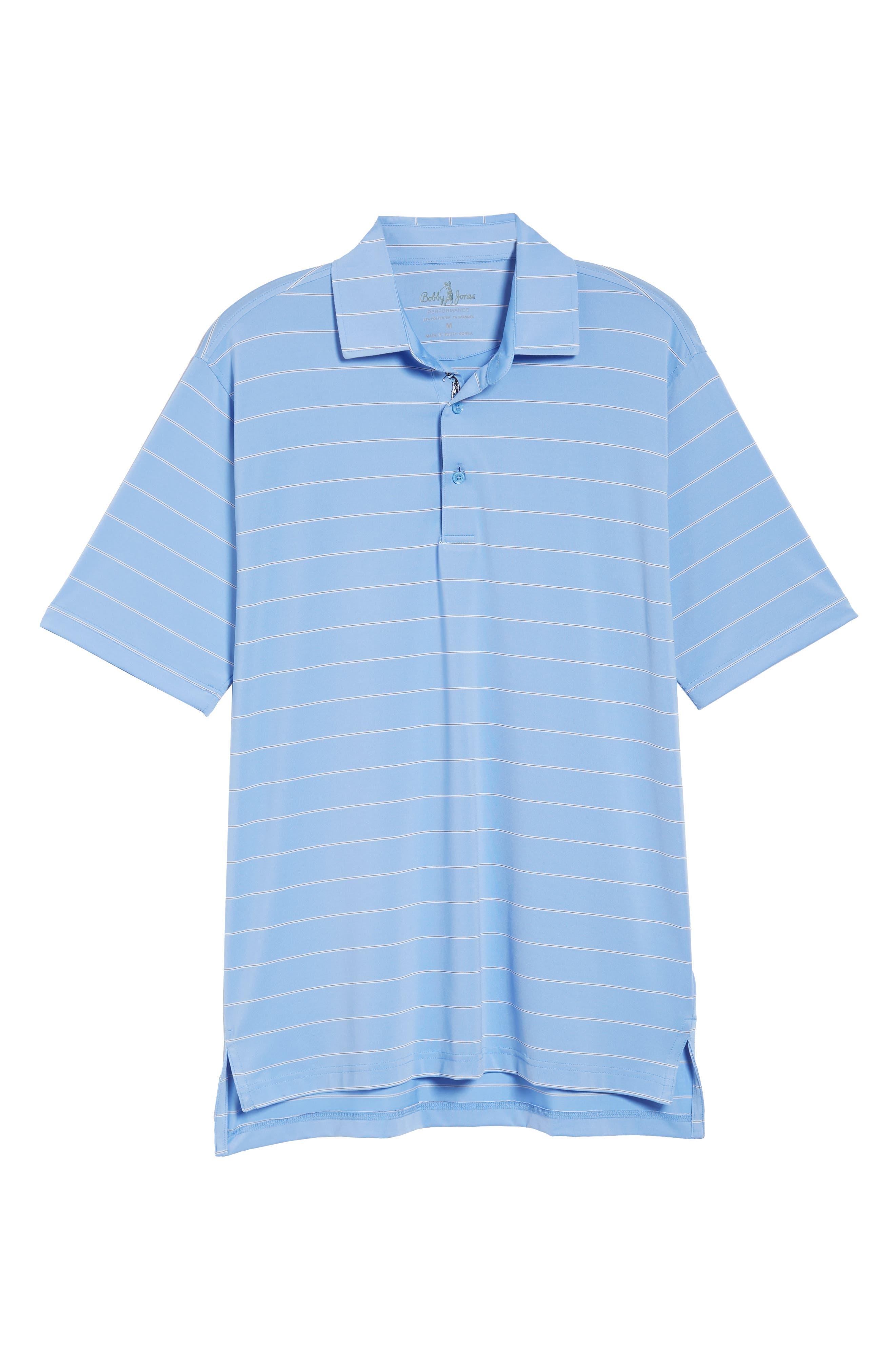 XH2O Momentum Stripe Jersey Polo,                             Alternate thumbnail 6, color,                             459