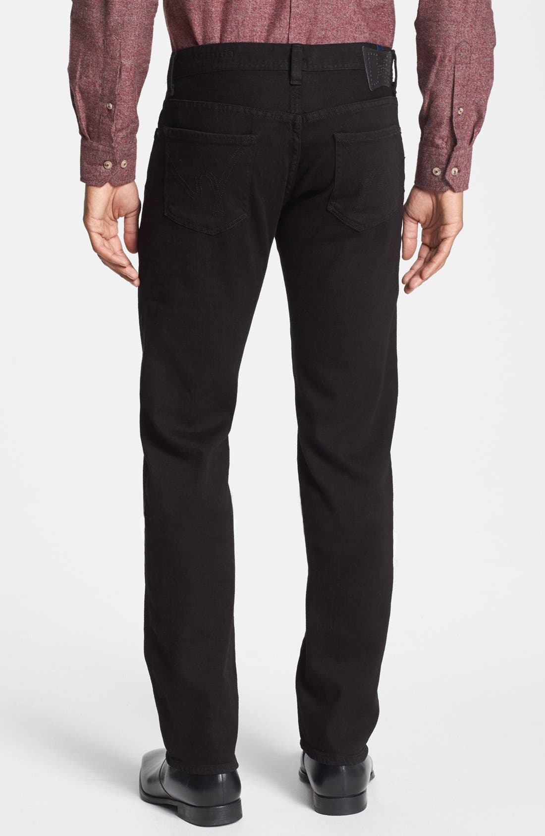 'Core' Slim Straight Fit Jeans,                             Alternate thumbnail 3, color,                             MIDNIGHT