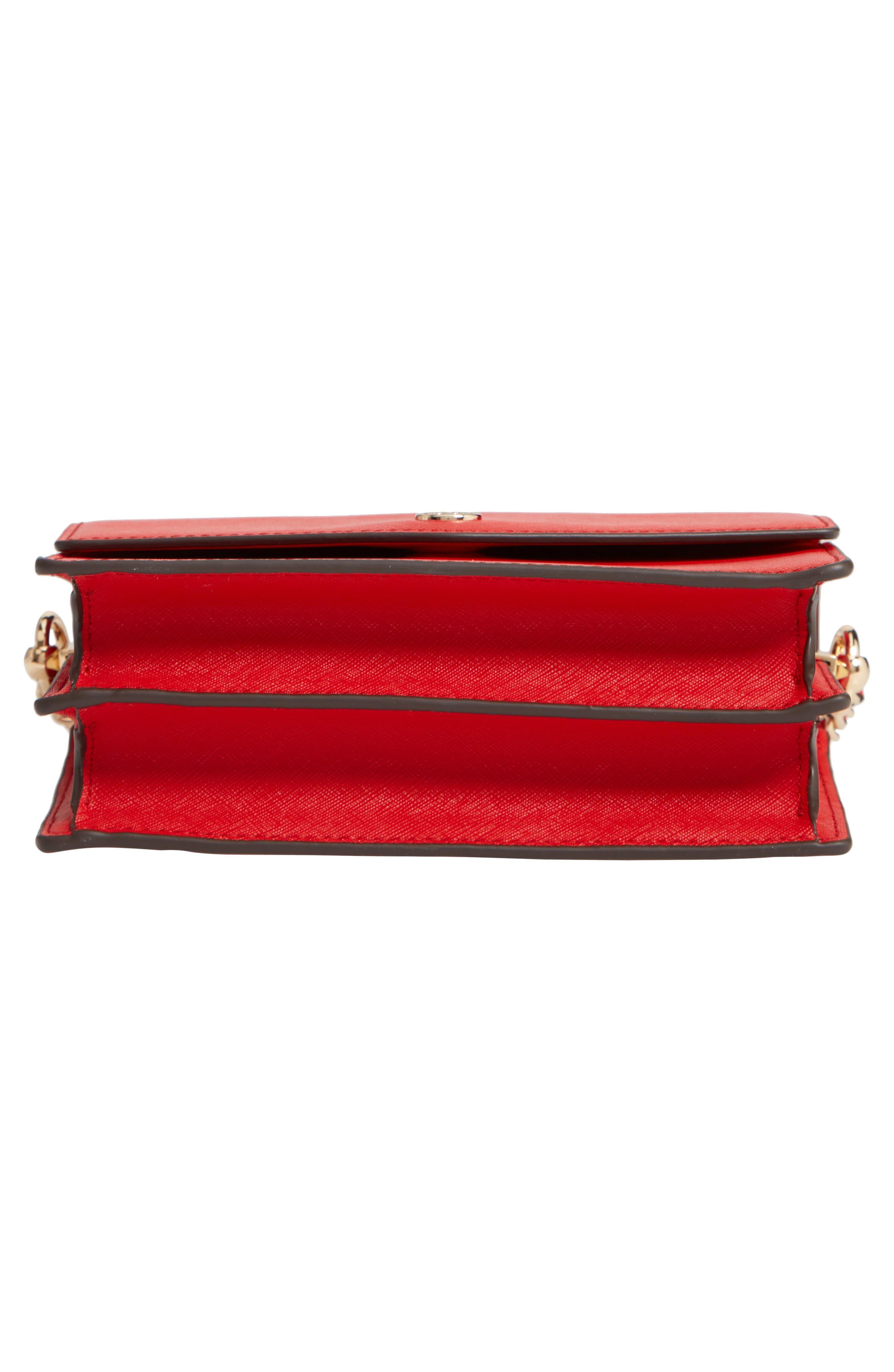 Mini Robinson Convertible Leather Shoulder Bag,                             Alternate thumbnail 6, color,                             BRILLIANT RED