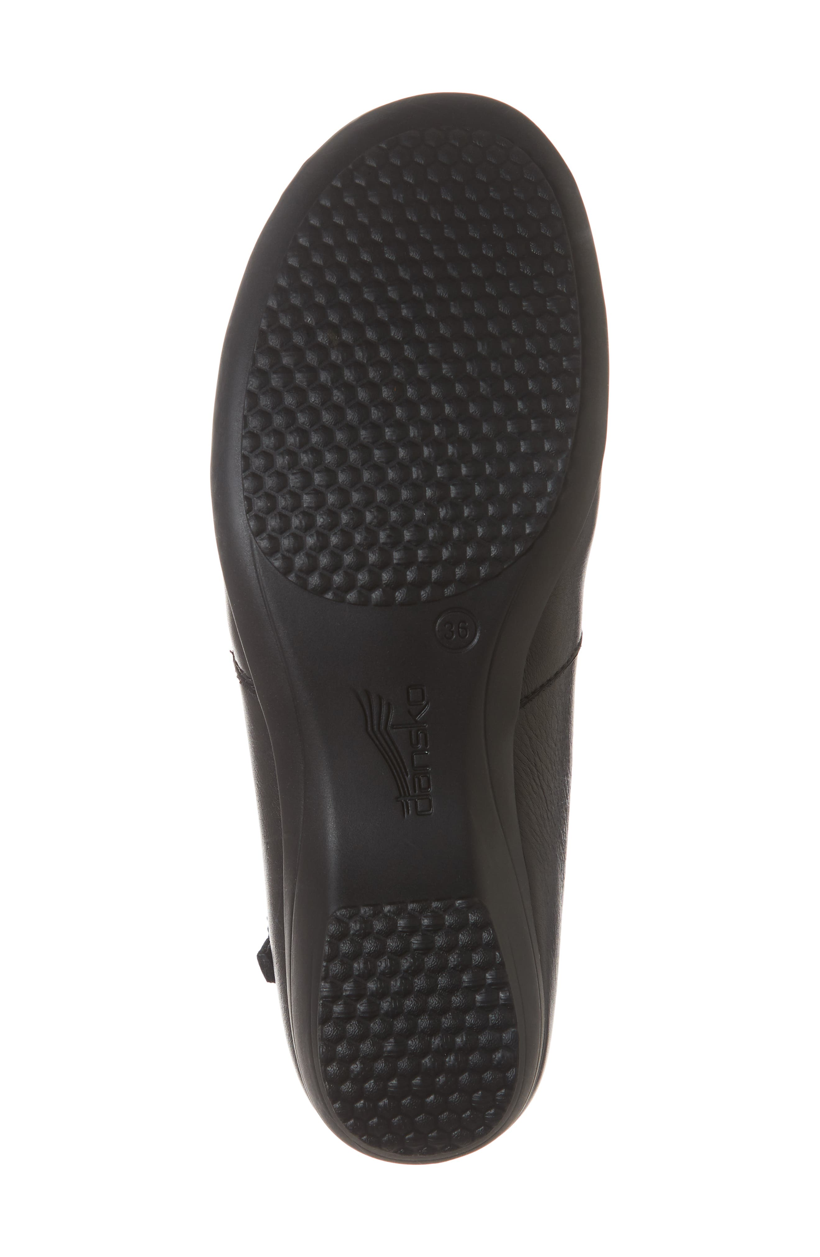 Fifi Bootie,                             Alternate thumbnail 6, color,                             BLACK MILLED LEATHER