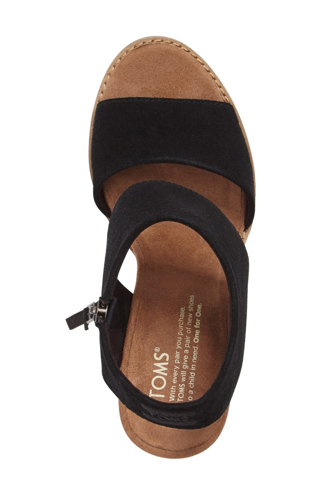 Majorca Sandal,                             Alternate thumbnail 6, color,                             BLACK