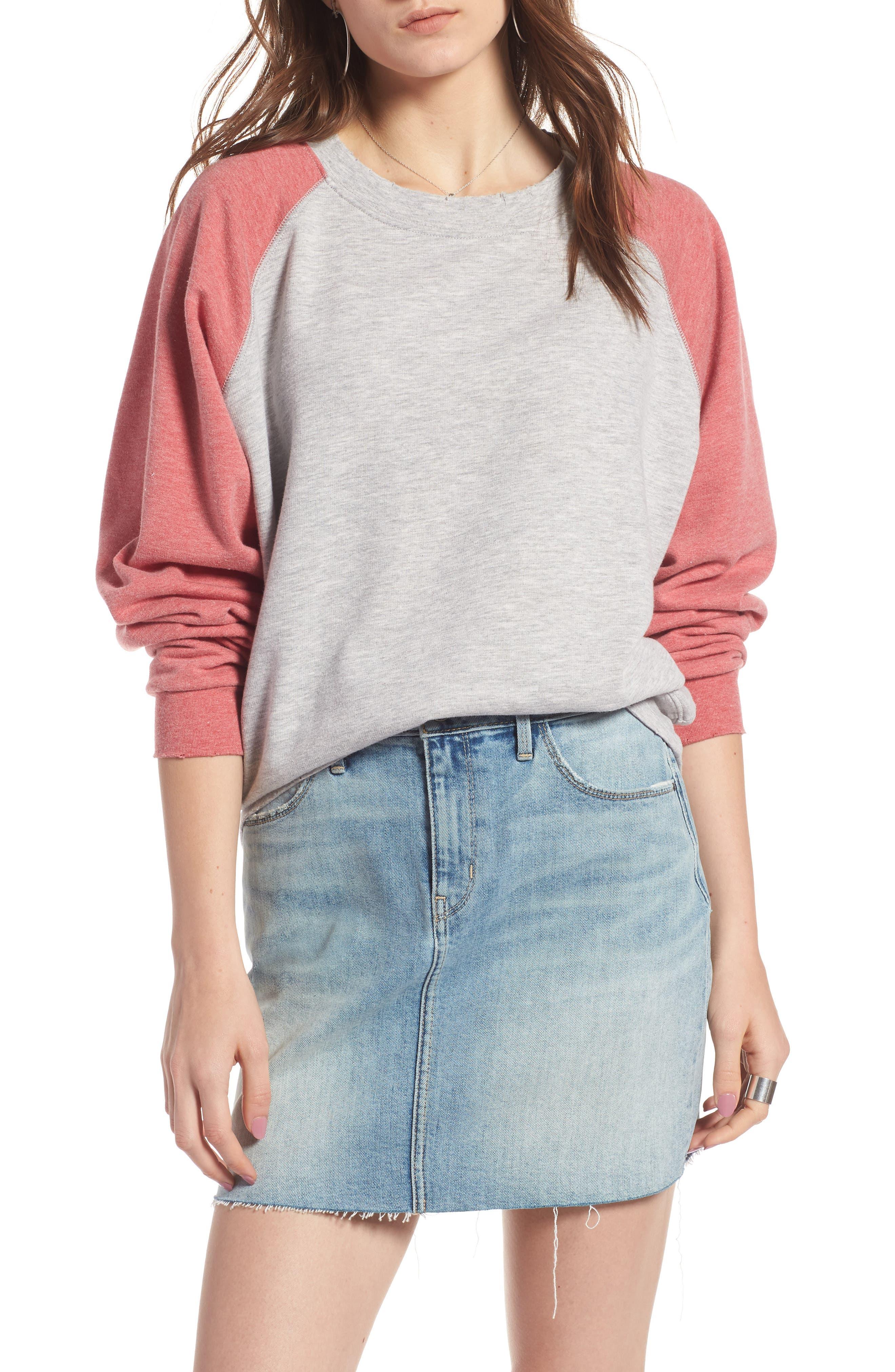 Raglan Sweatshirt,                         Main,                         color, 050