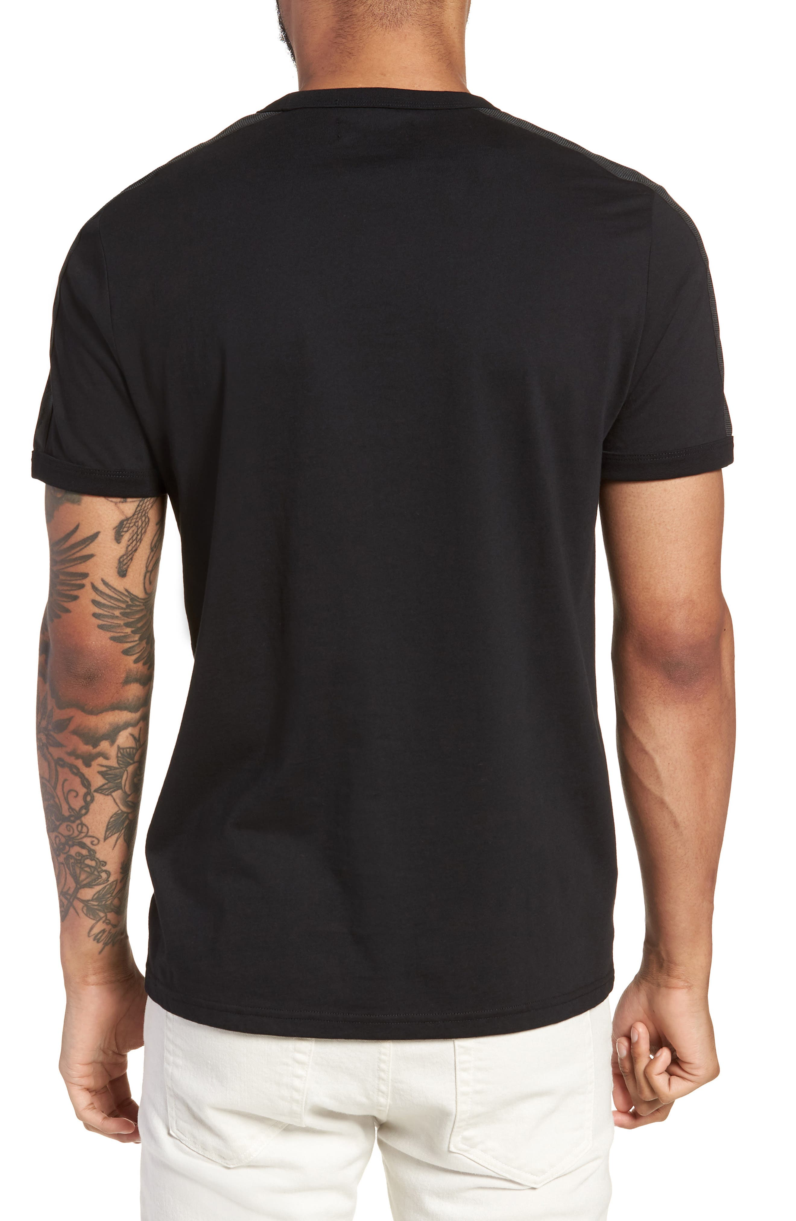 Tonal Tape T-Shirt,                             Alternate thumbnail 2, color,                             001
