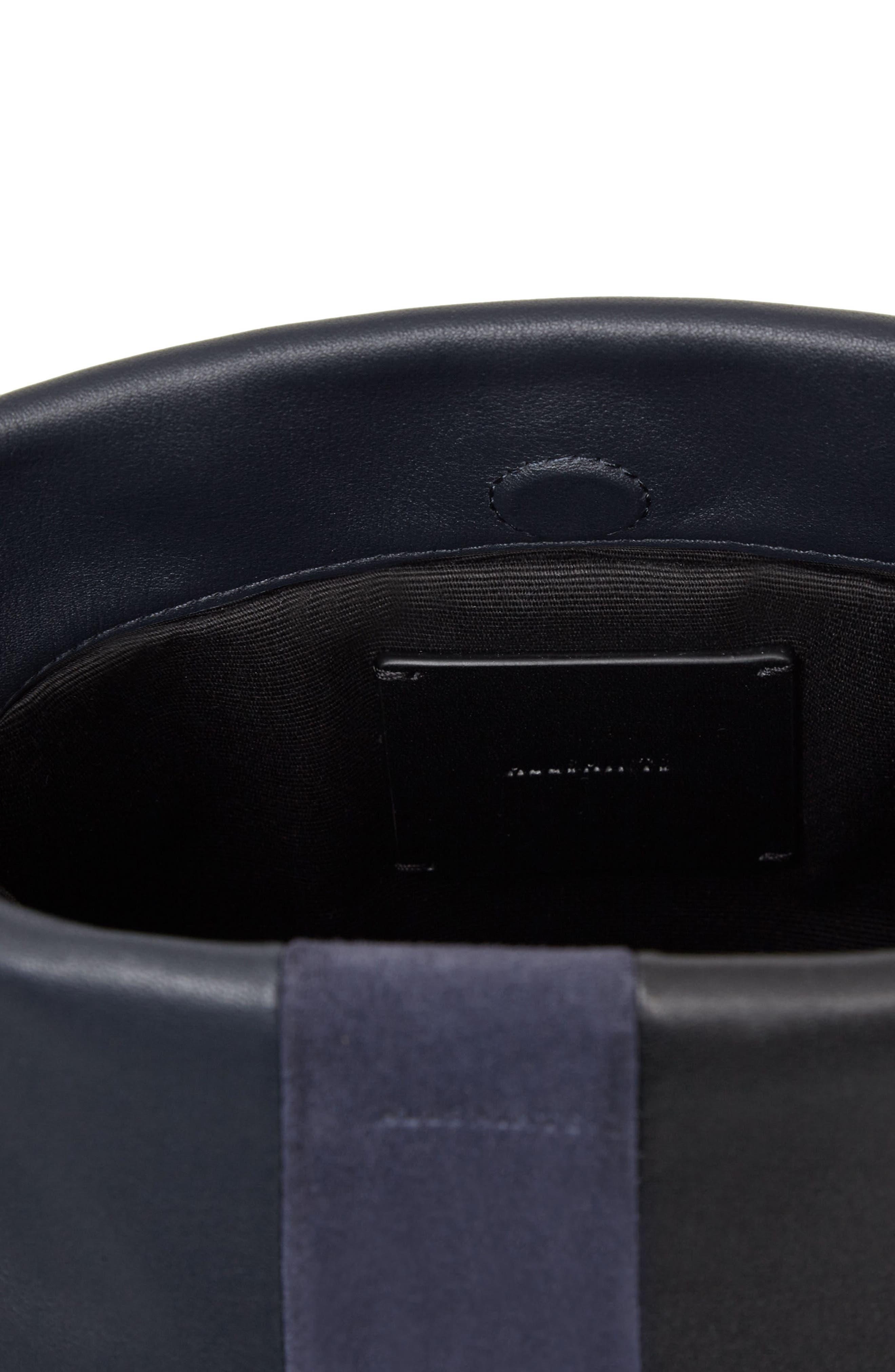 Casey Calfskin Leather & Suede Tassel Crossbody Bag,                             Alternate thumbnail 4, color,                             405