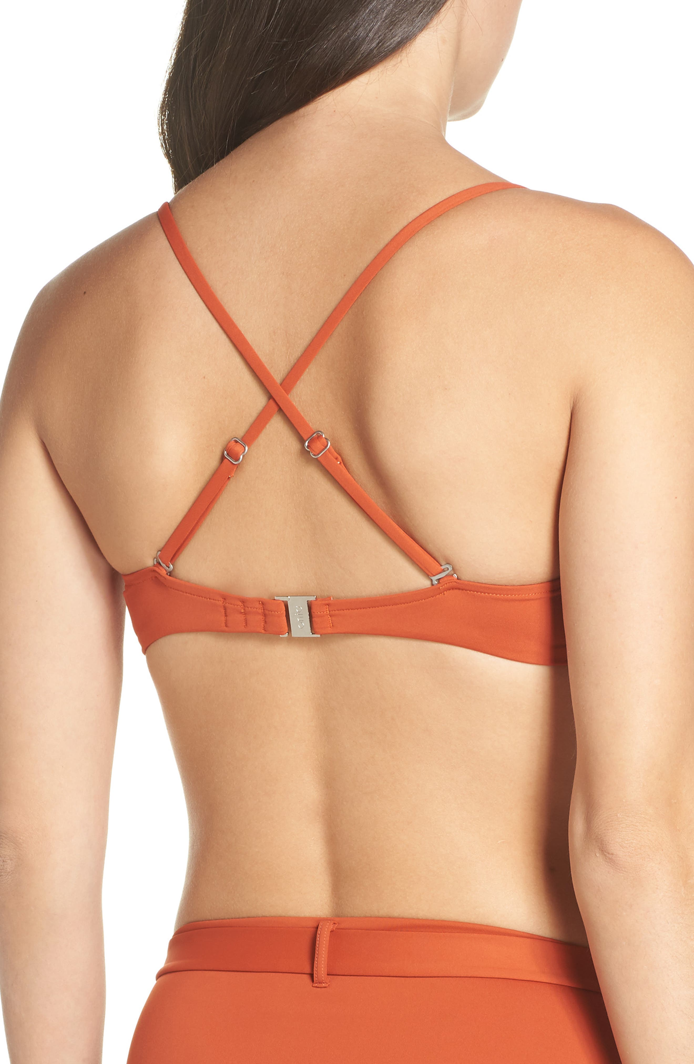 Lydia Underwire Bikini Top,                             Alternate thumbnail 2, color,                             ROOIBOS