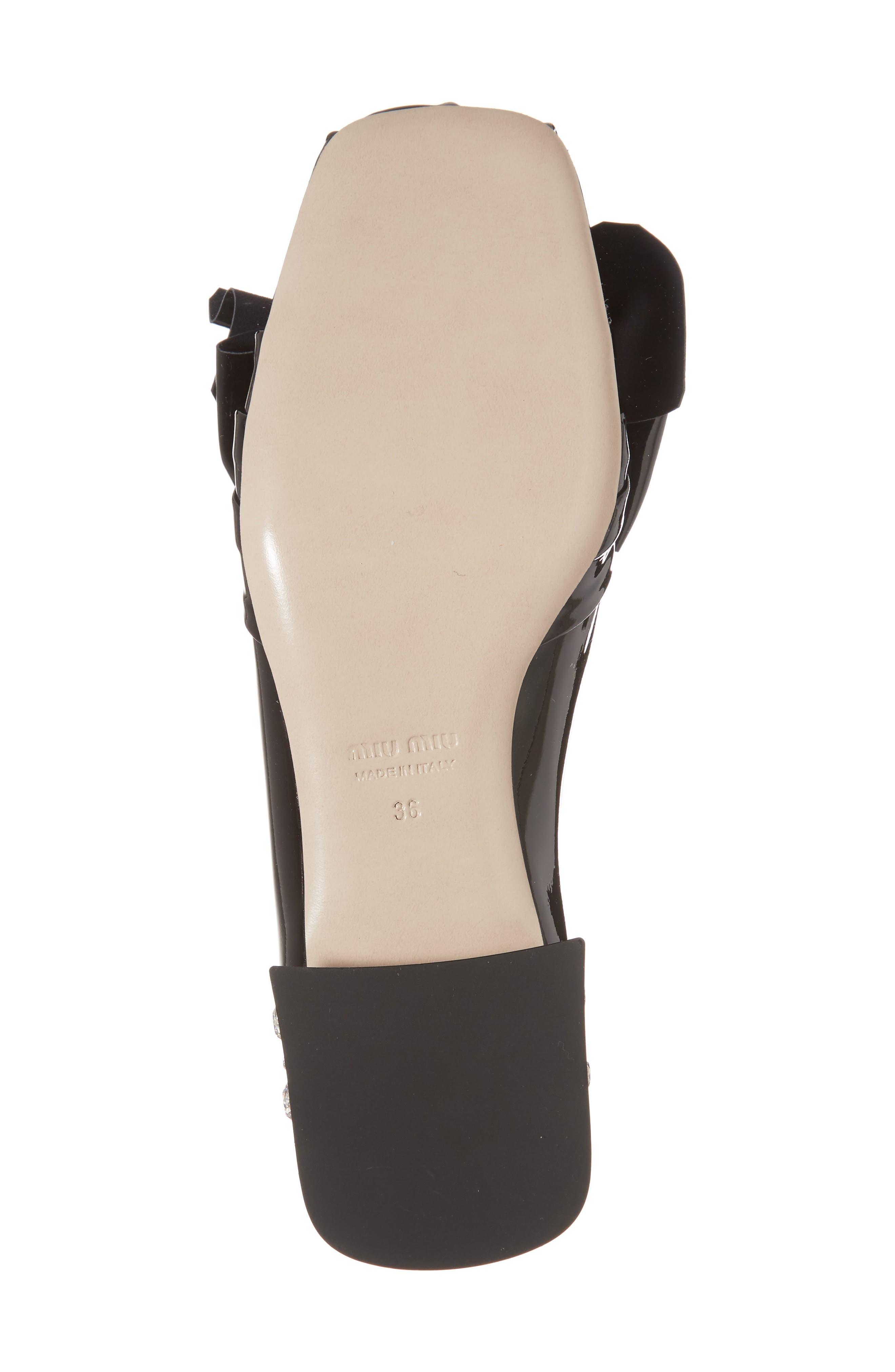 Embellished Heel Bow Loafer,                             Alternate thumbnail 6, color,                             BLACK