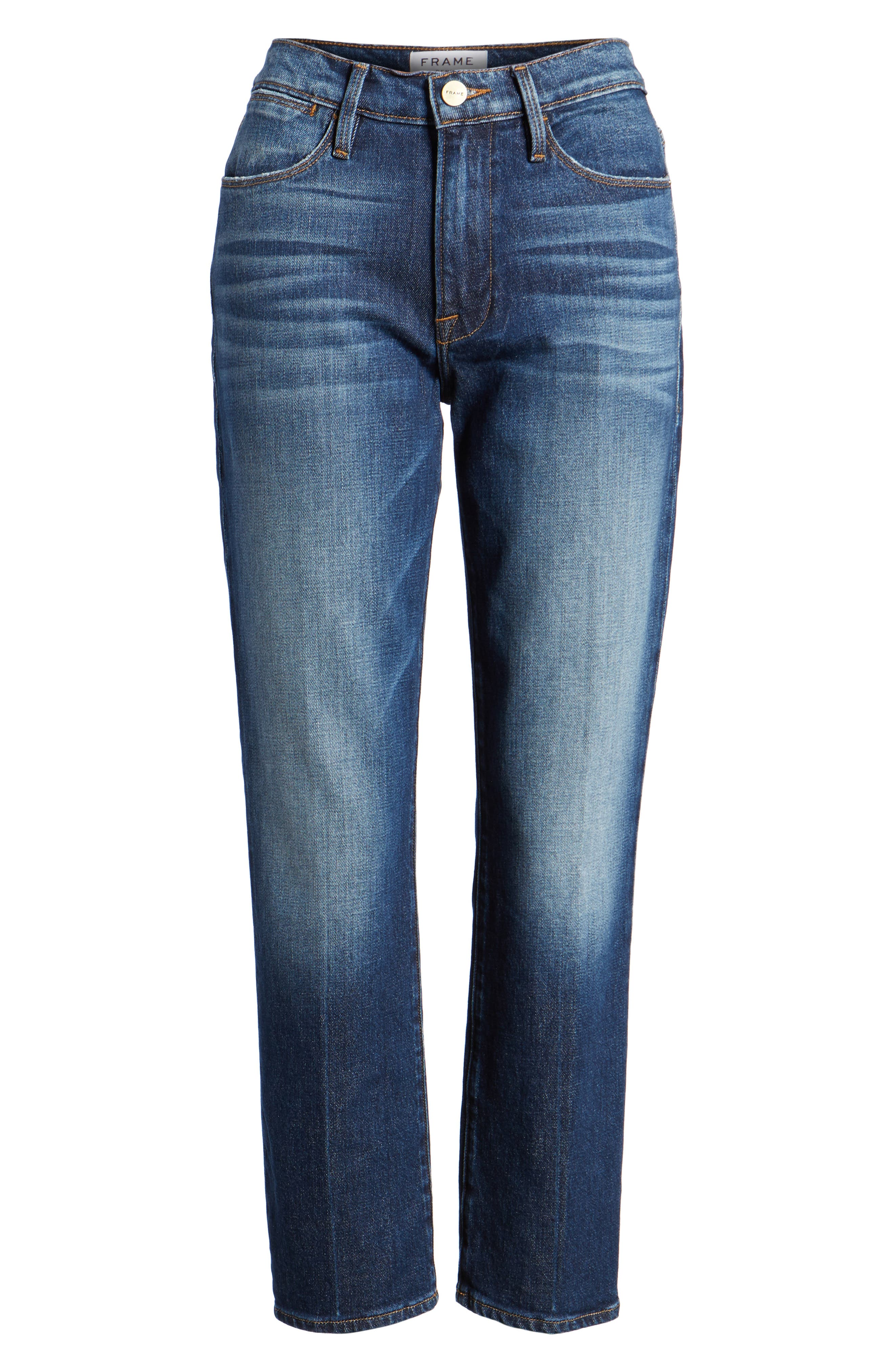 Le High Straight Leg Jeans,                             Alternate thumbnail 7, color,                             401