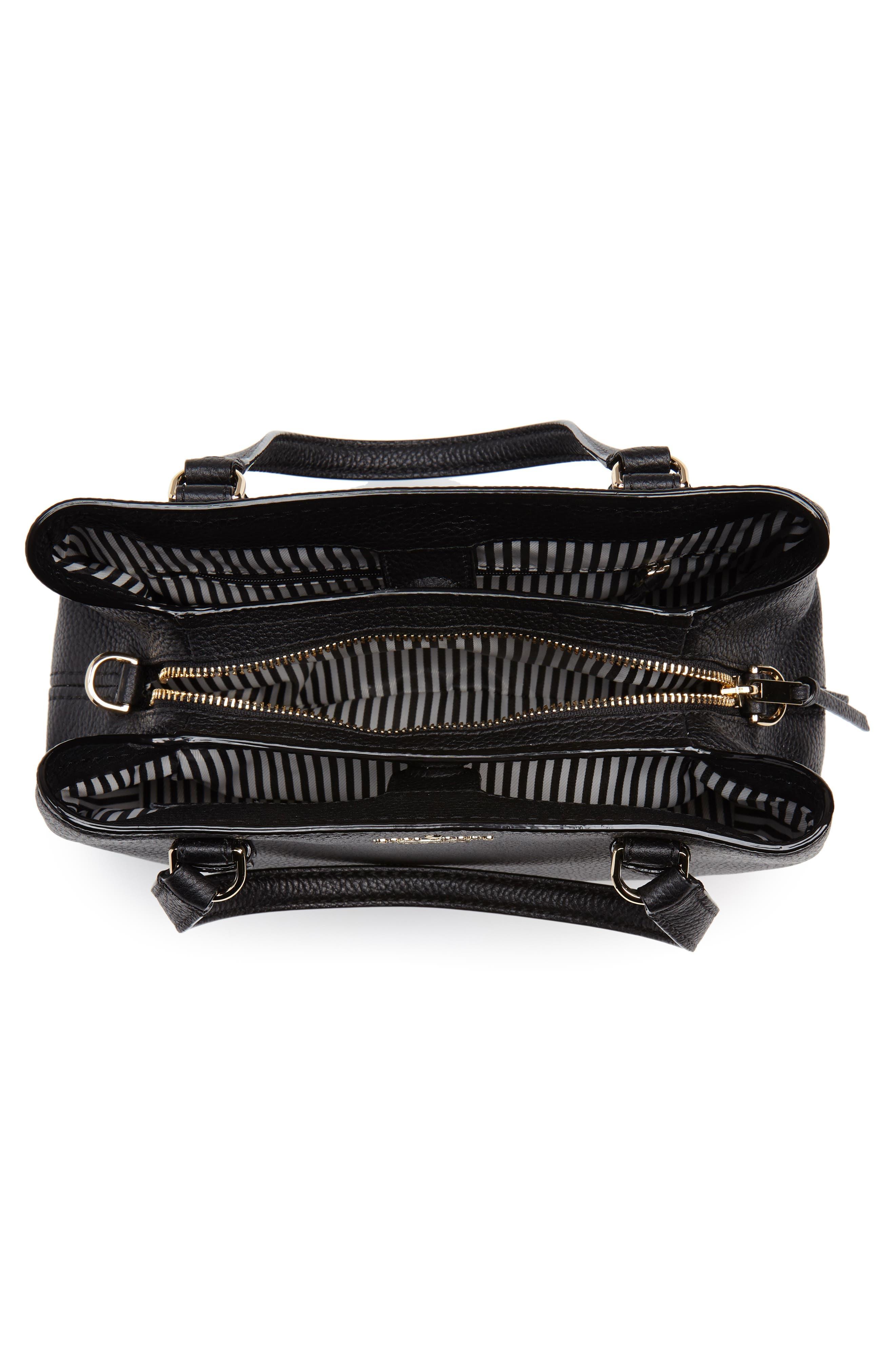 jackson street – small octavia leather satchel,                             Alternate thumbnail 4, color,                             001