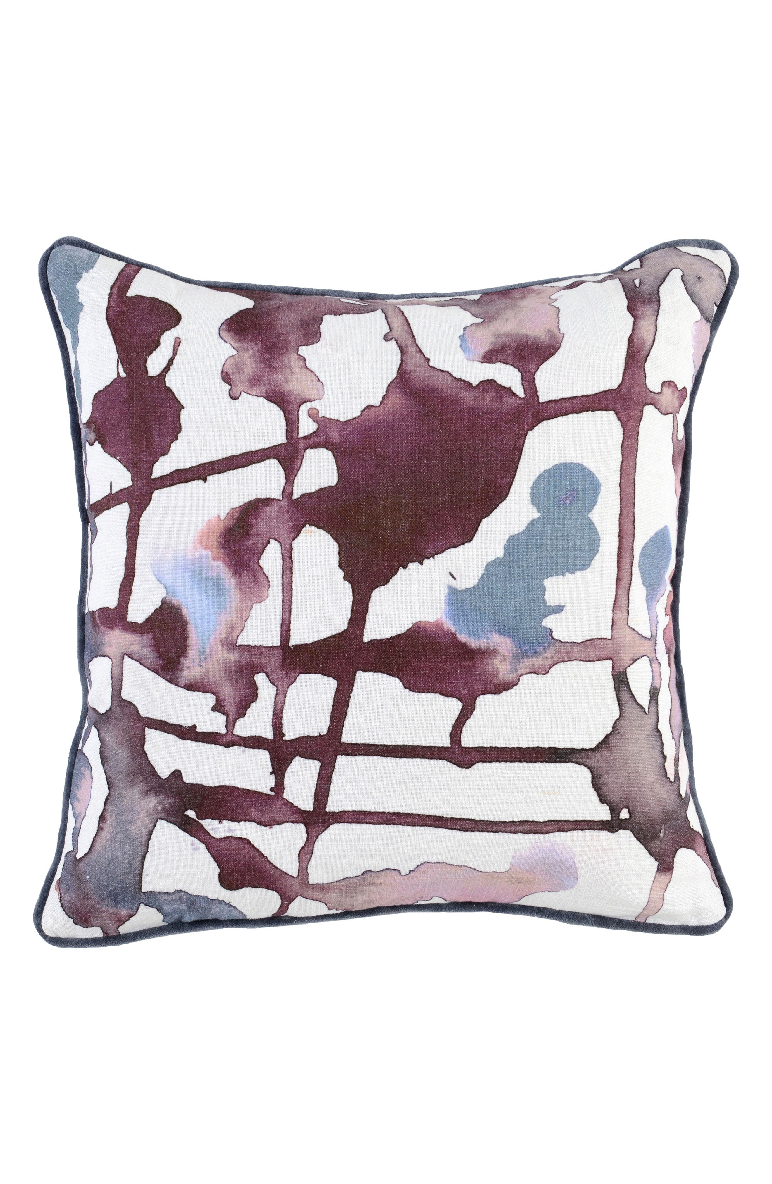 Lillian Accent Pillow,                             Main thumbnail 1, color,                             WINE/ GRAY