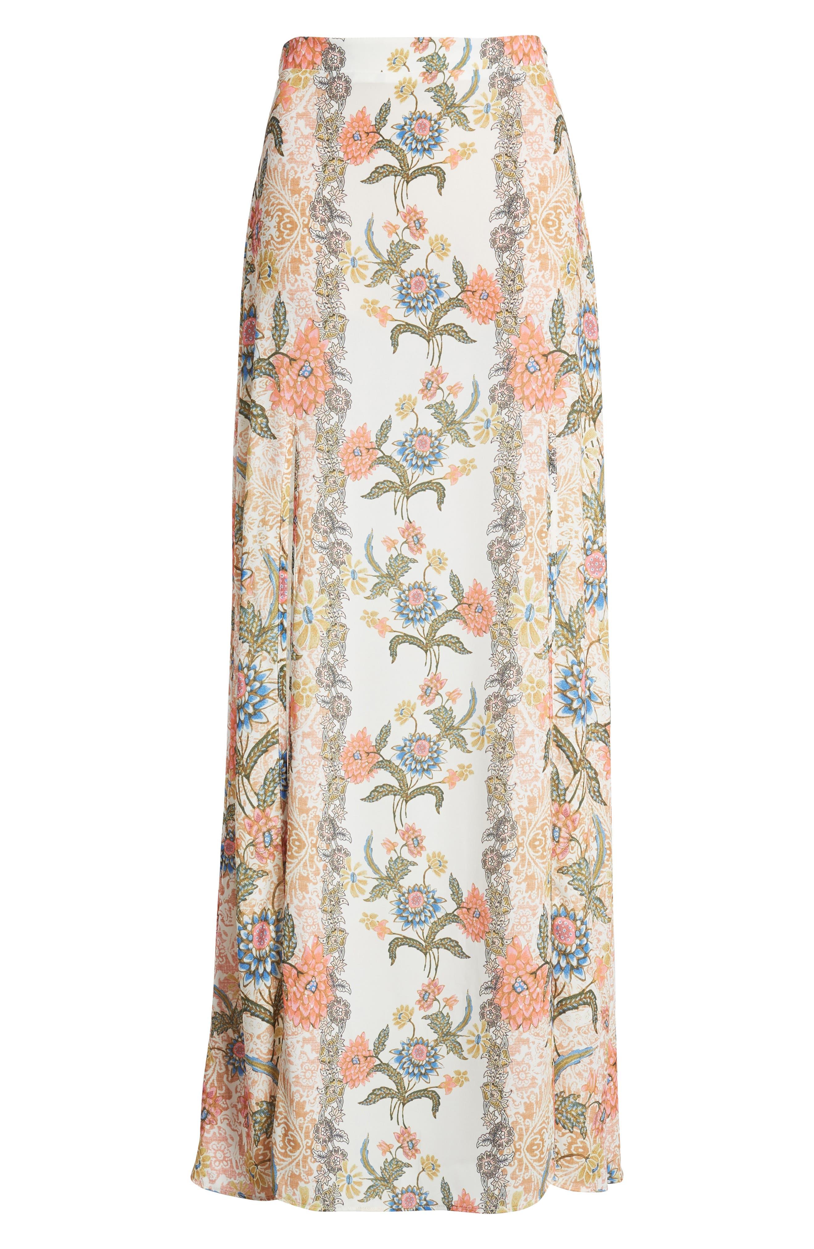 Floral Maxi Skirt,                             Alternate thumbnail 6, color,                             650