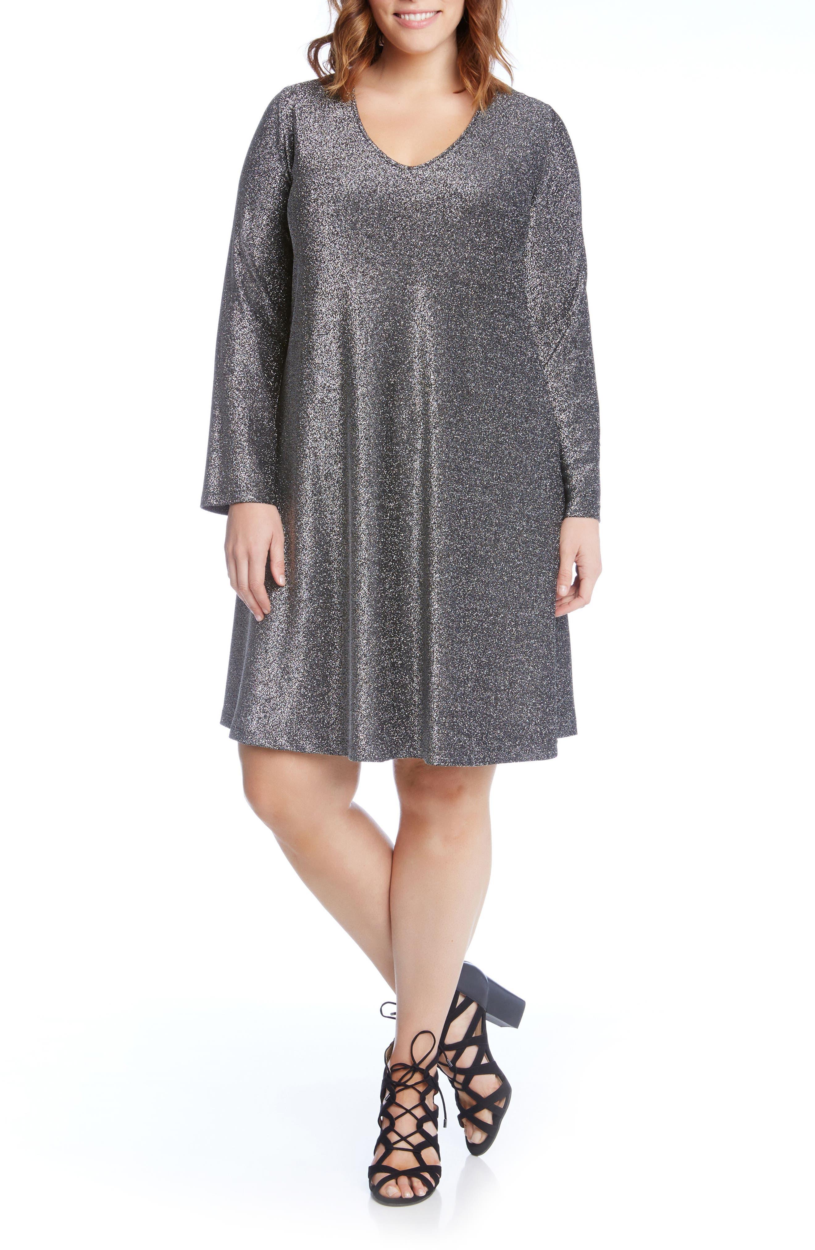 Taylor Sparkle A-Line Dress,                         Main,                         color, 044