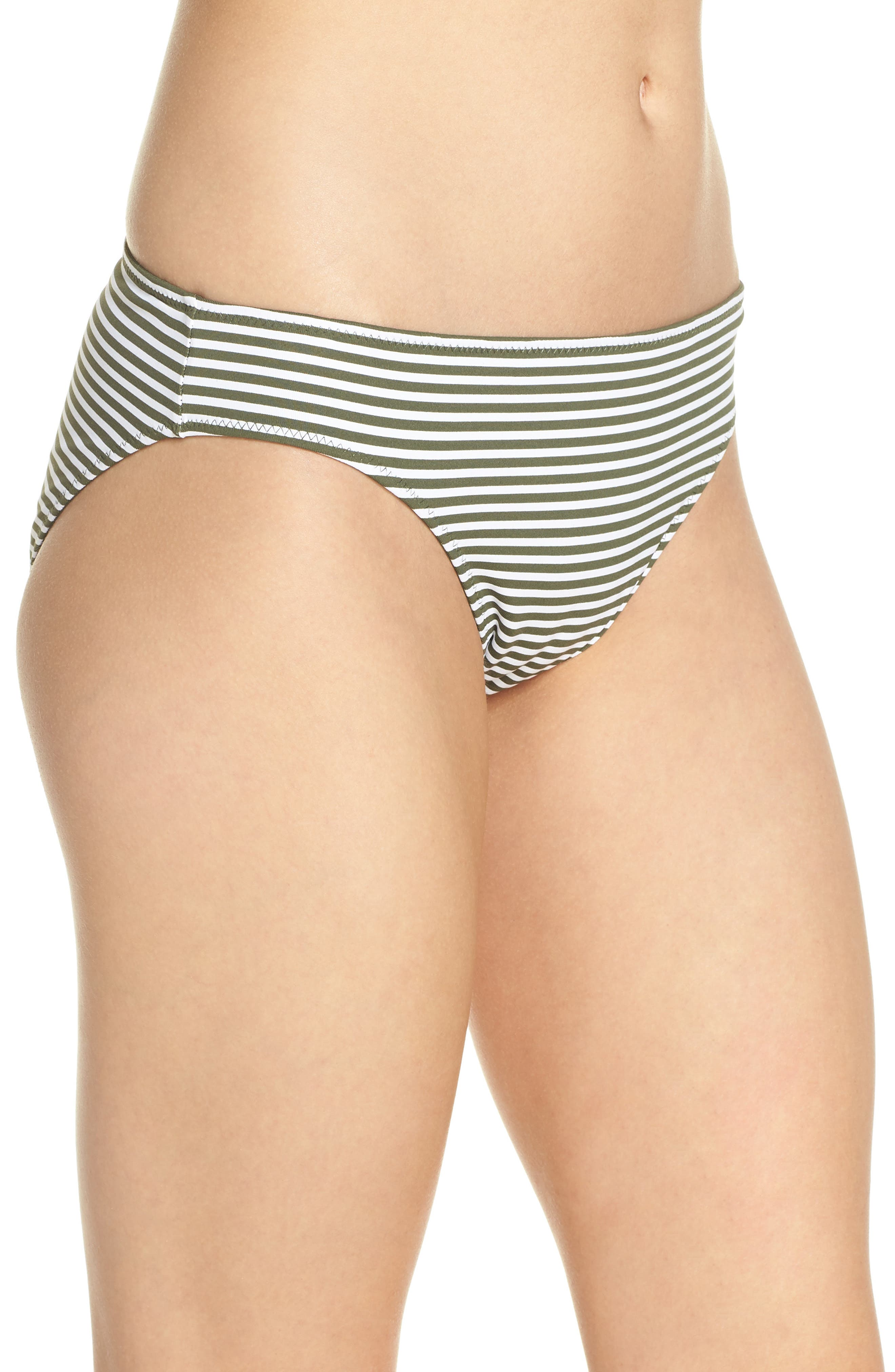 Reversible Hipster Bikini Bottoms,                             Alternate thumbnail 4, color,                             DARK TEA LEAF