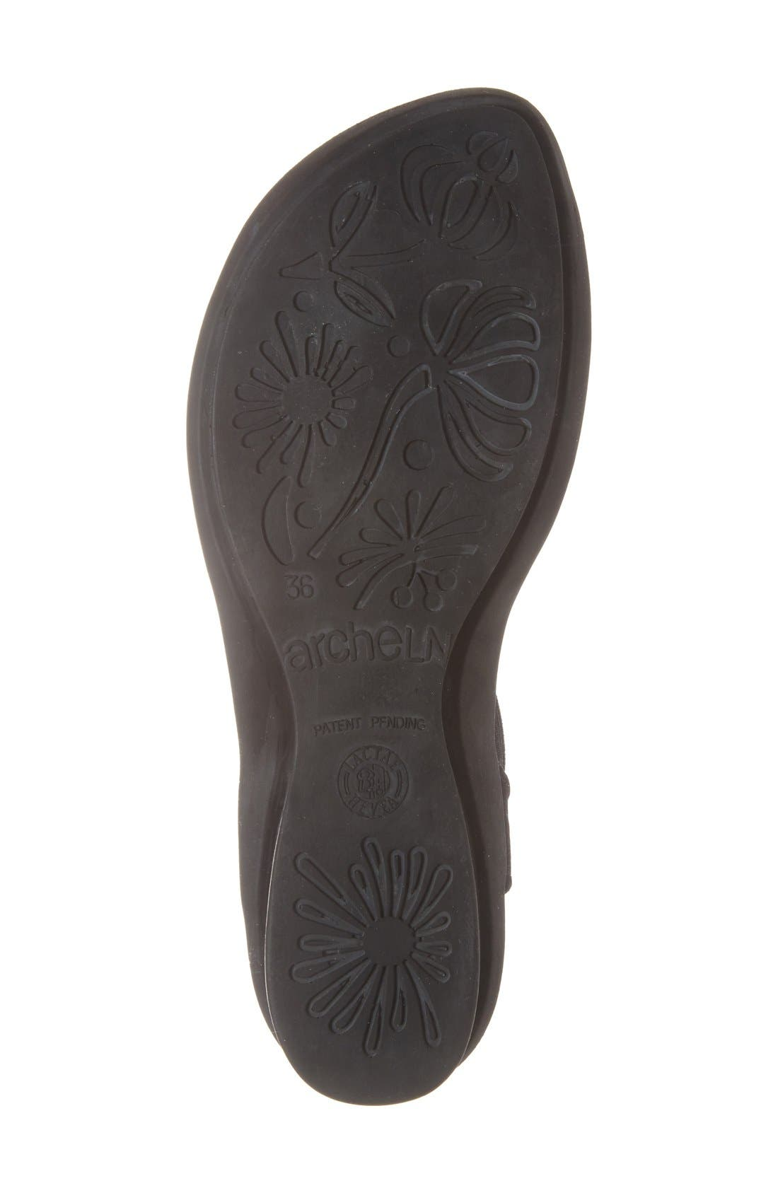'Satia' Sandal,                             Alternate thumbnail 4, color,                             BLACK NUBUCK LEATHER