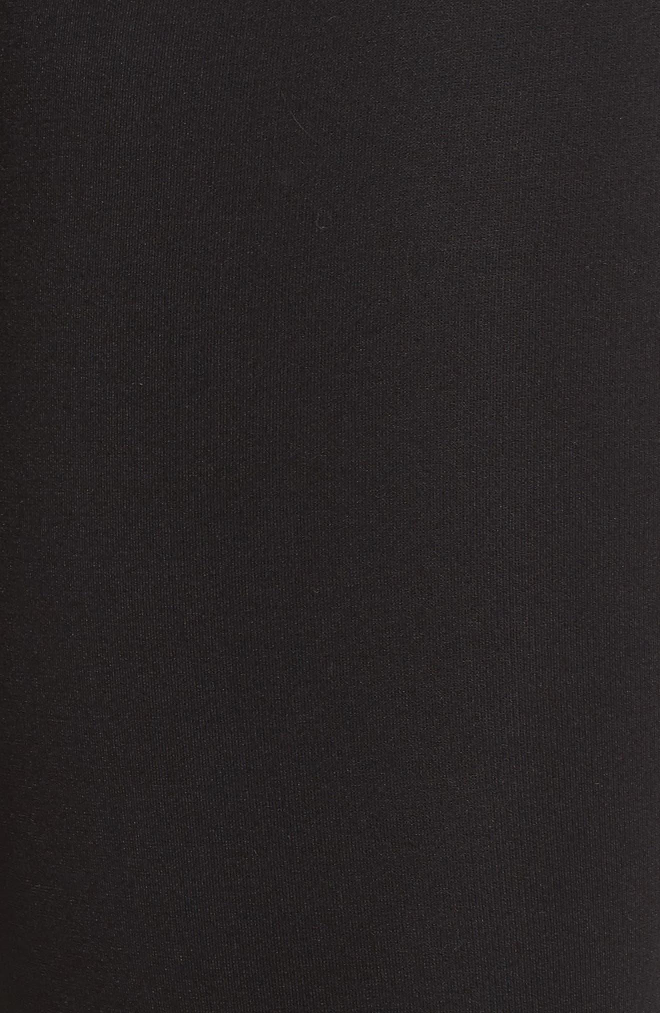 Ponte Knit Leggings,                             Alternate thumbnail 5, color,                             BLACK