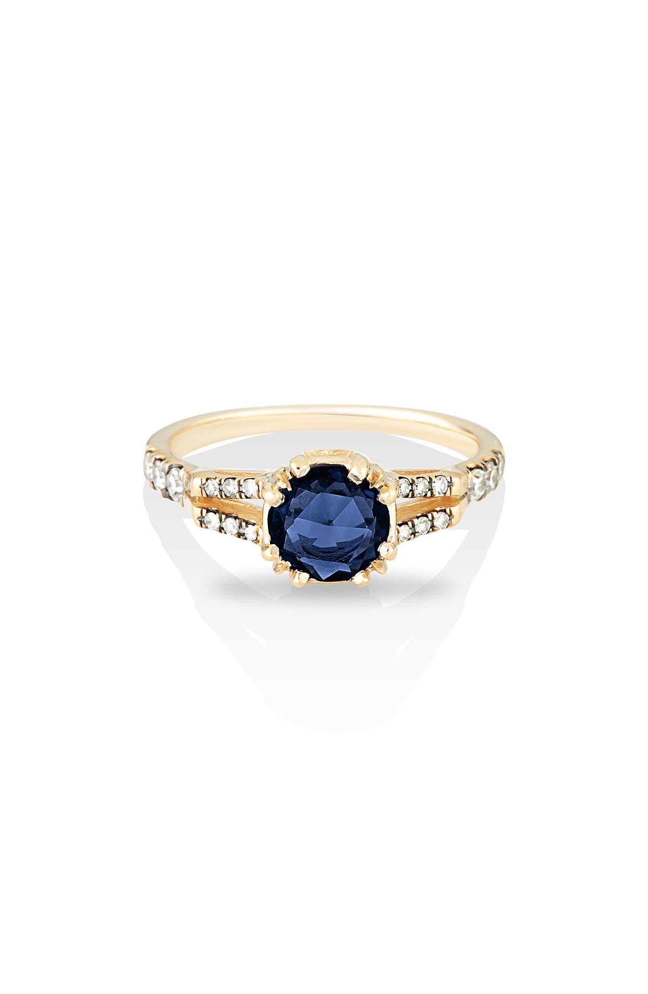 MANIAMANIA Beloved Sapphire Solitaire Ring, Main, color, BLUE SAPPHIRE