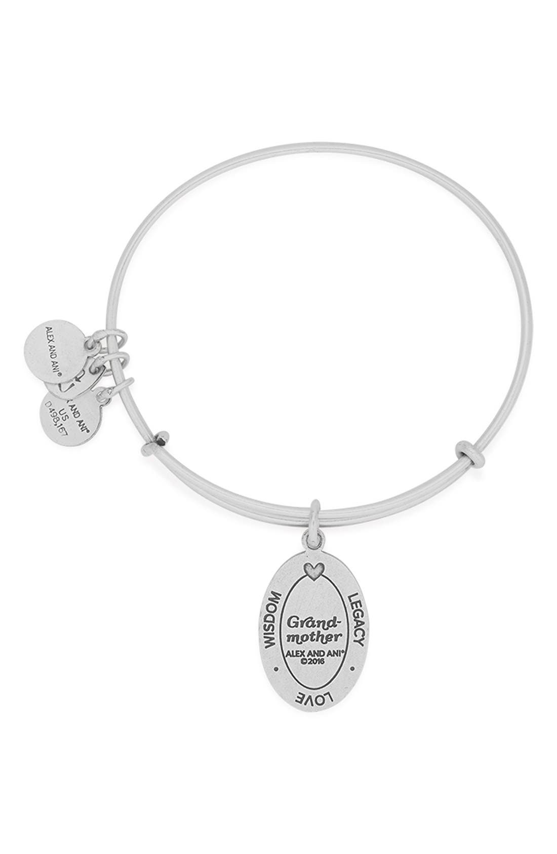 'I Love You Grandmother' Expandable Wire Bangle,                             Alternate thumbnail 2, color,                             040