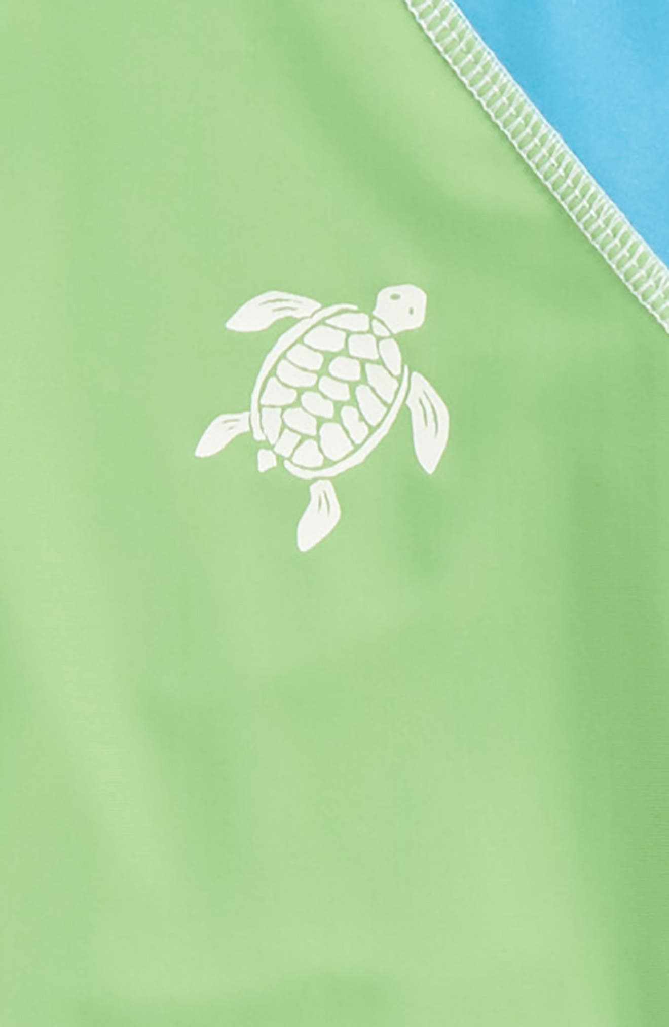 Turtle Scope Two-Piece Rashguard Swimsuit,                             Alternate thumbnail 2, color,                             400