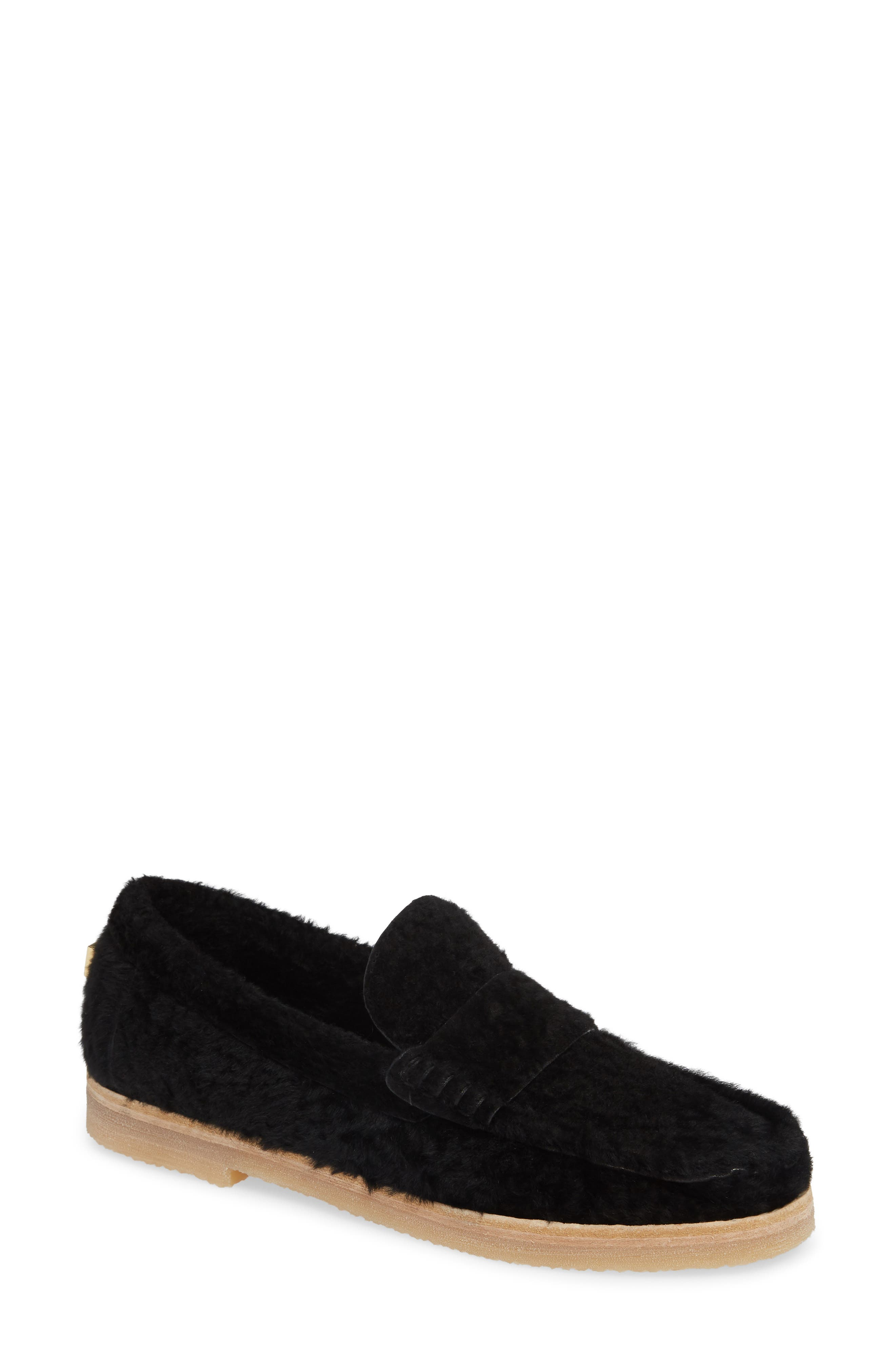 Bromley Genuine Shearling Loafer,                             Main thumbnail 1, color,