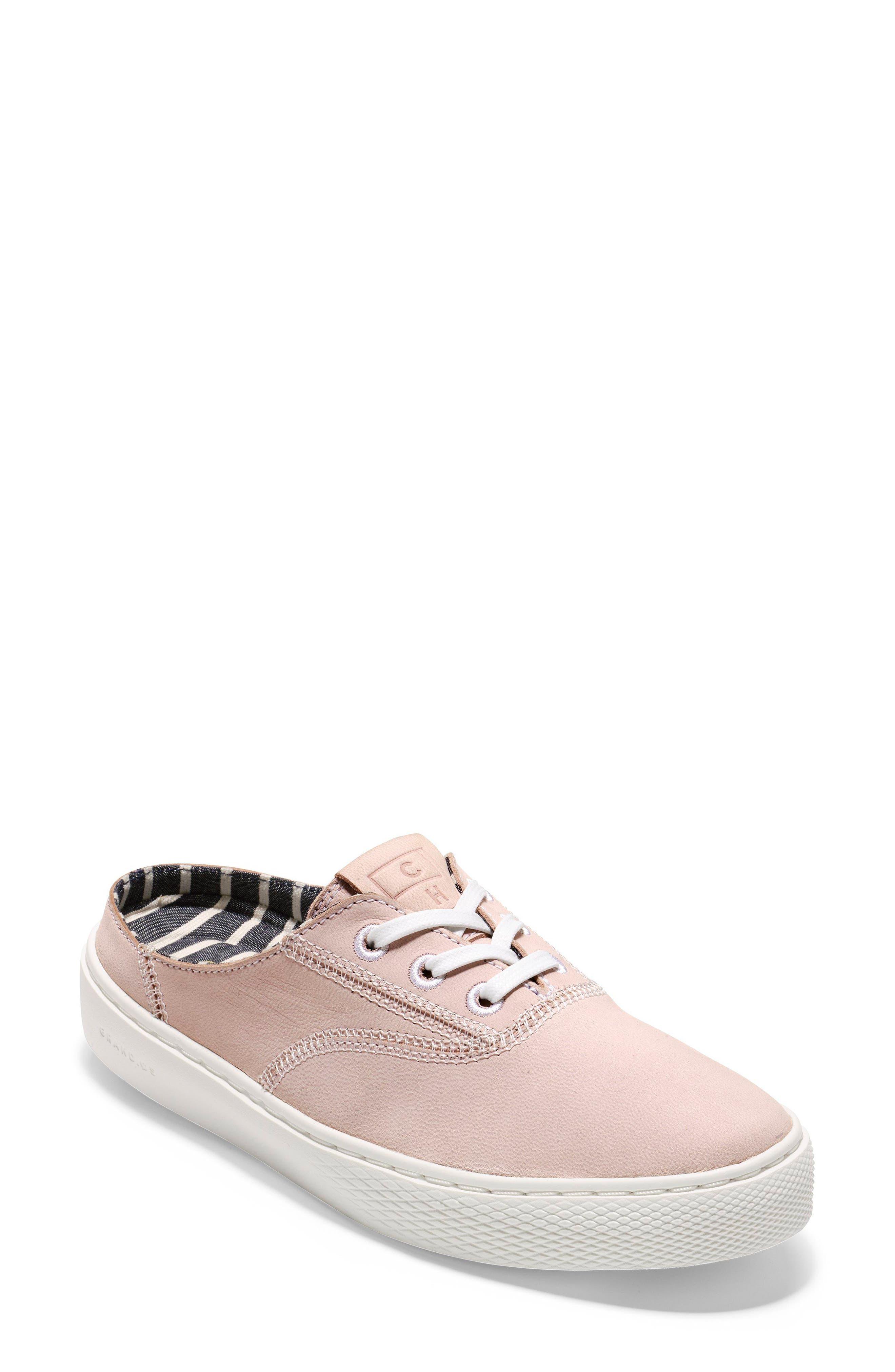 GrandPro Deck Sneaker,                             Main thumbnail 1, color,                             PETAL/ OPTIC WHITE NUBUCK