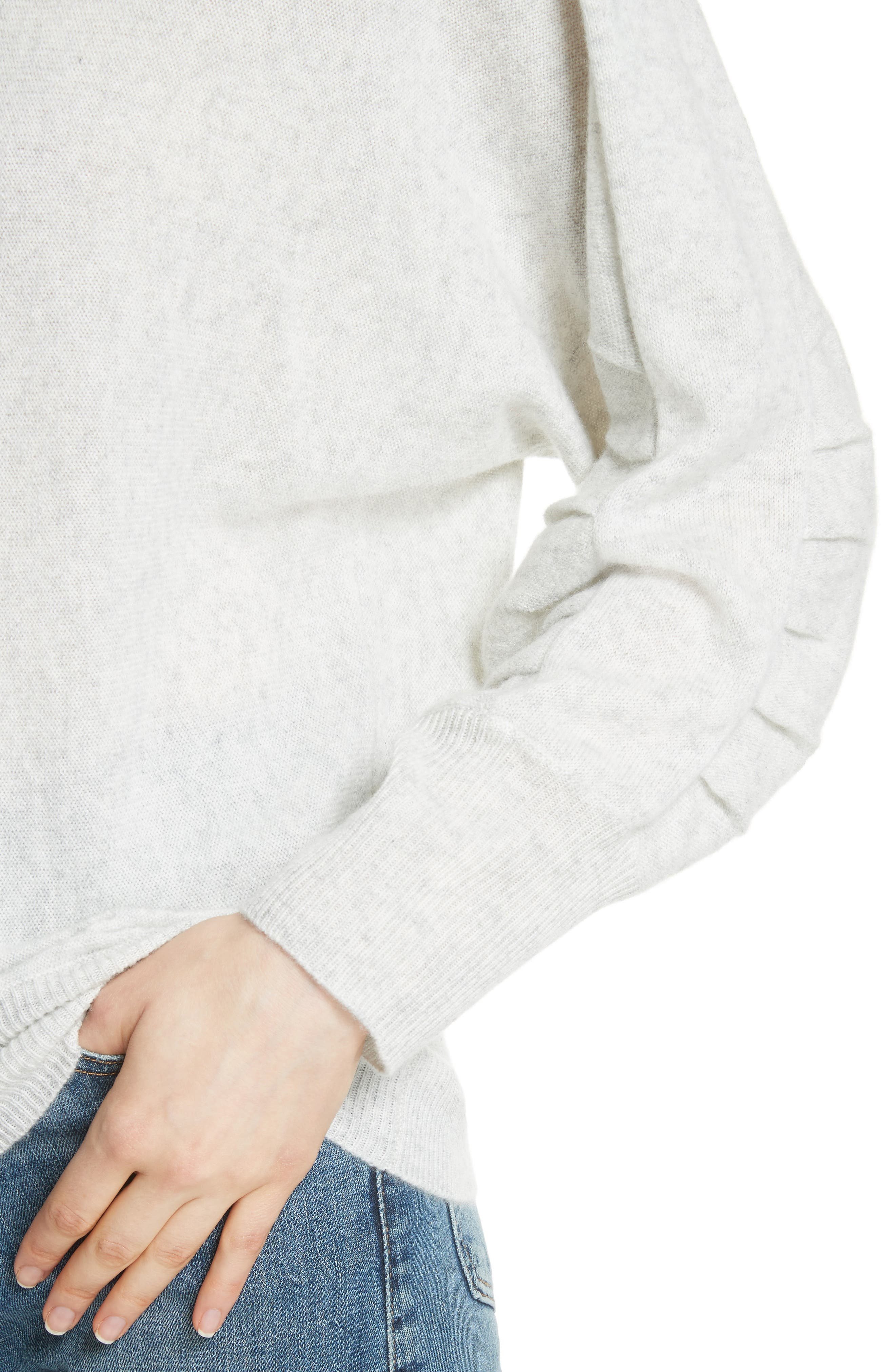 Weller Cashmere Sweater,                             Alternate thumbnail 4, color,                             100