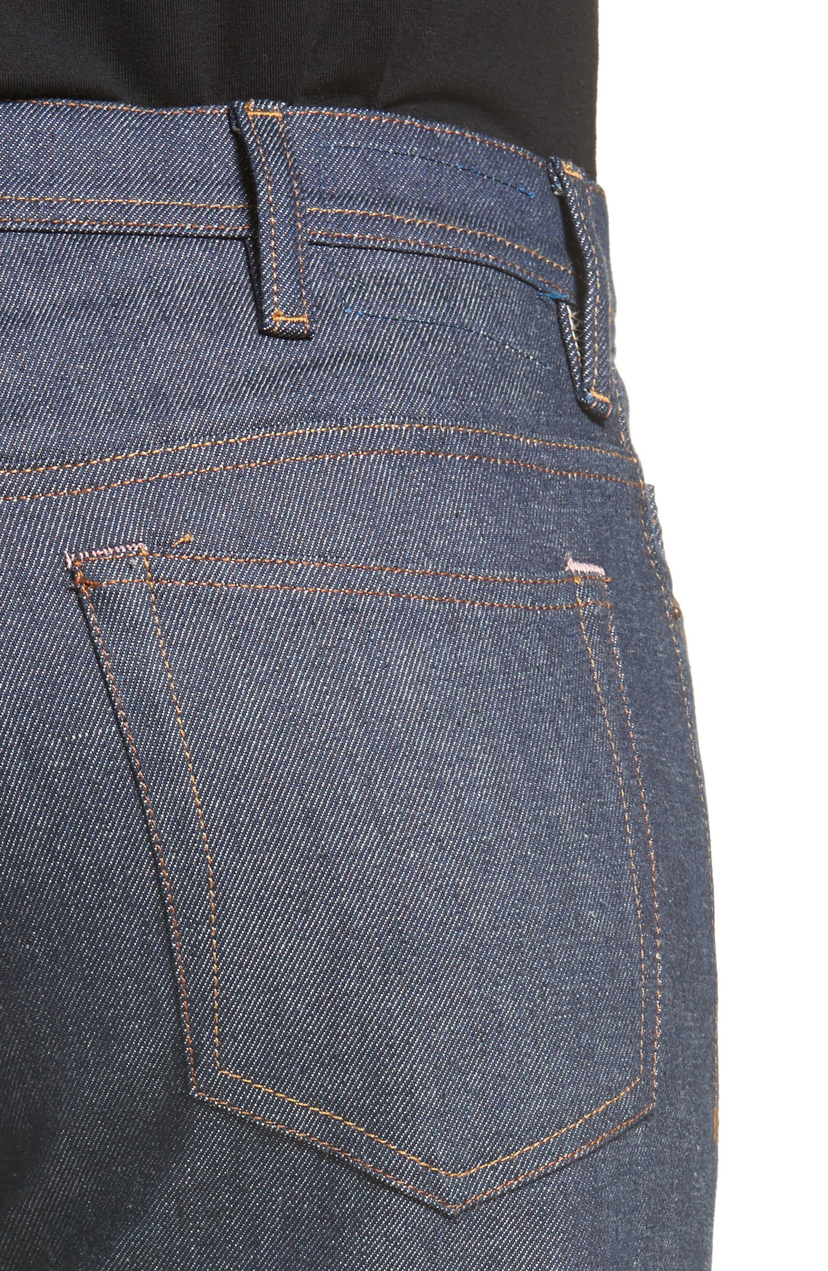 River Slim Tapered Leg Jeans,                             Alternate thumbnail 4, color,                             INDIGO