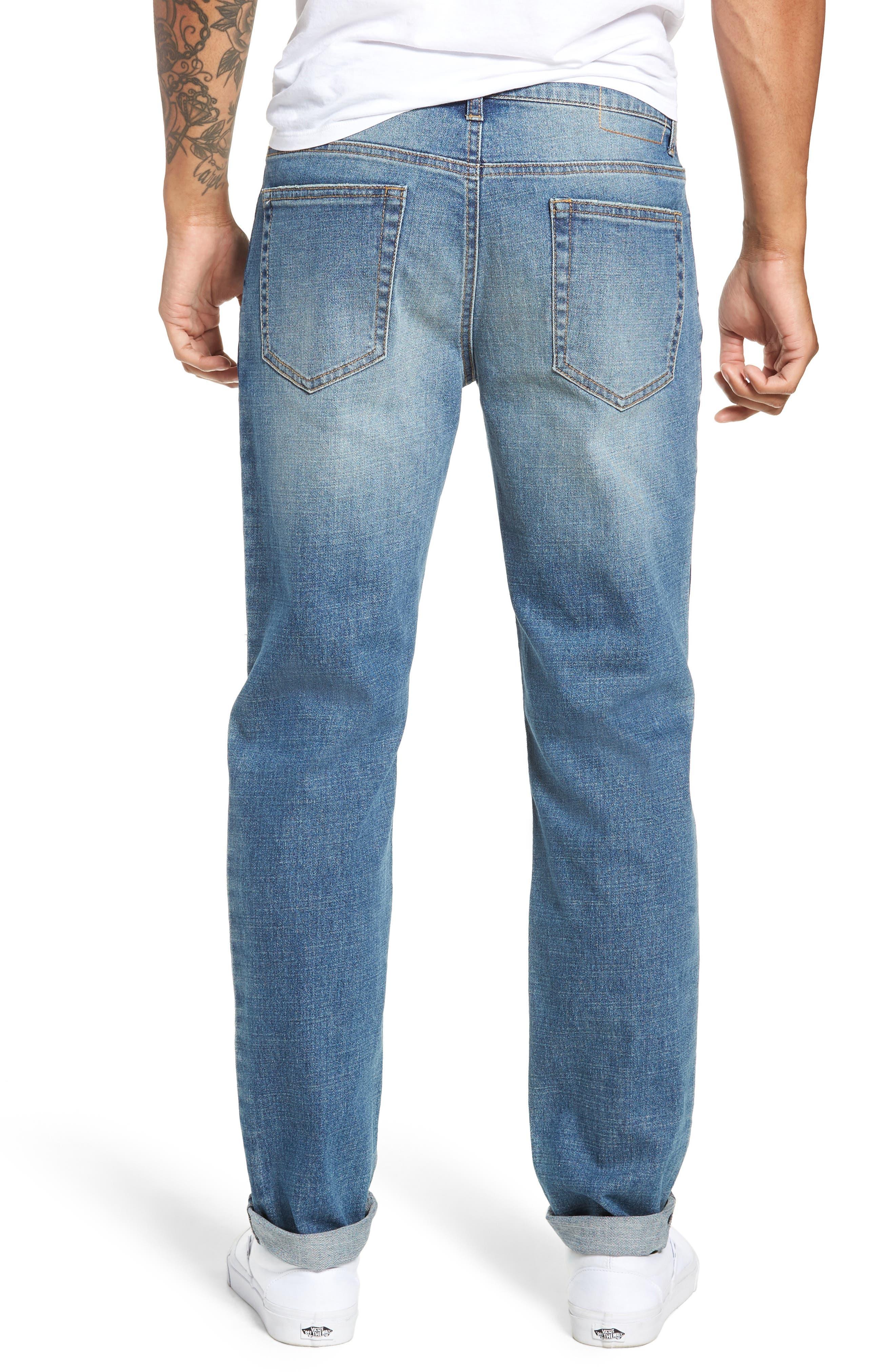 Slim Fit Side Stripe Jeans,                             Alternate thumbnail 2, color,                             BLUE STALEY WASH